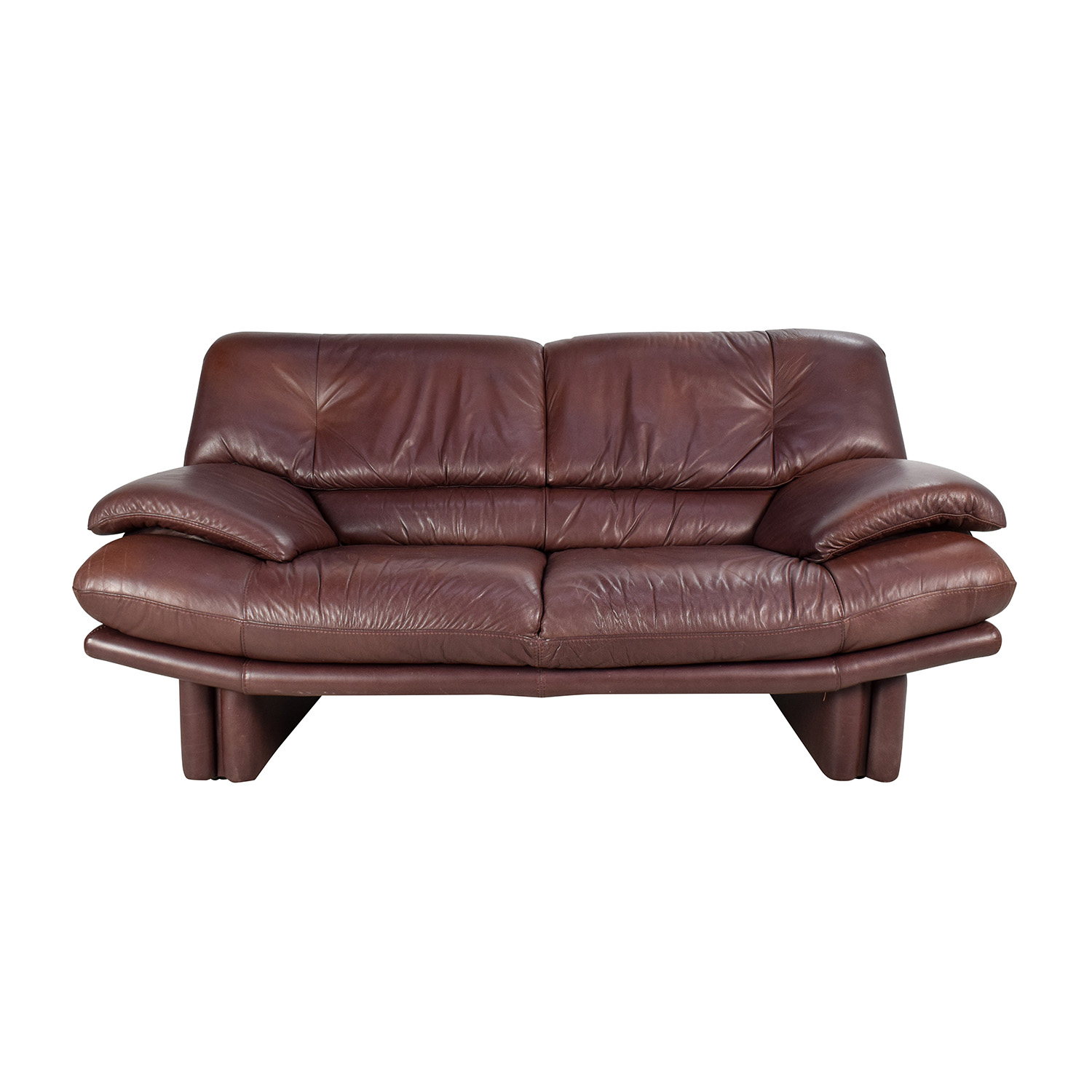 Maurice Villency Maurice Villency Brown Leather Sofa Used