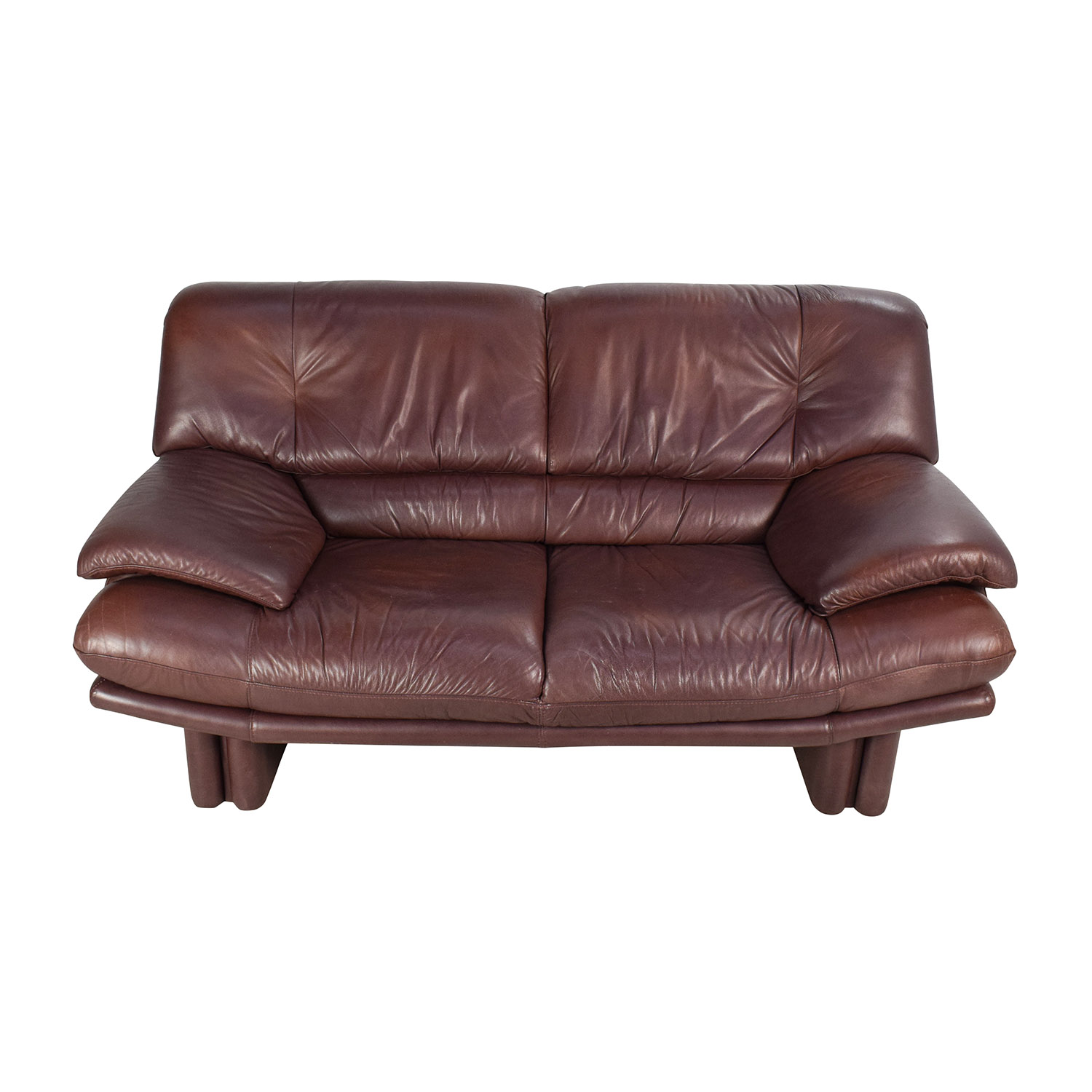 67% OFF - Maurice Villency Maurice Villency Brown Leather Sofa / Sofas