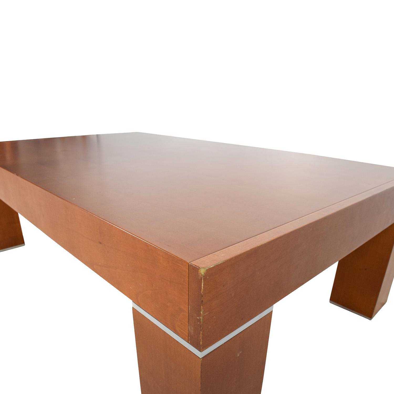 86% OFF Roche Bobois Paris Roche Bobois Paris Wood Coffee Table