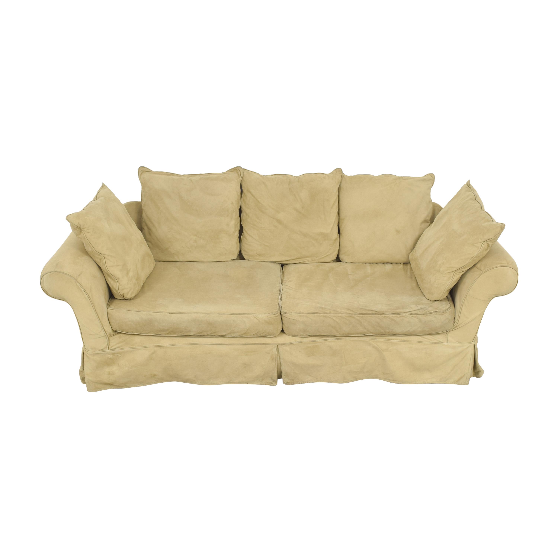 Pottery Barn PB Comfort Roll Arm Slipcovered Grand Sofa used