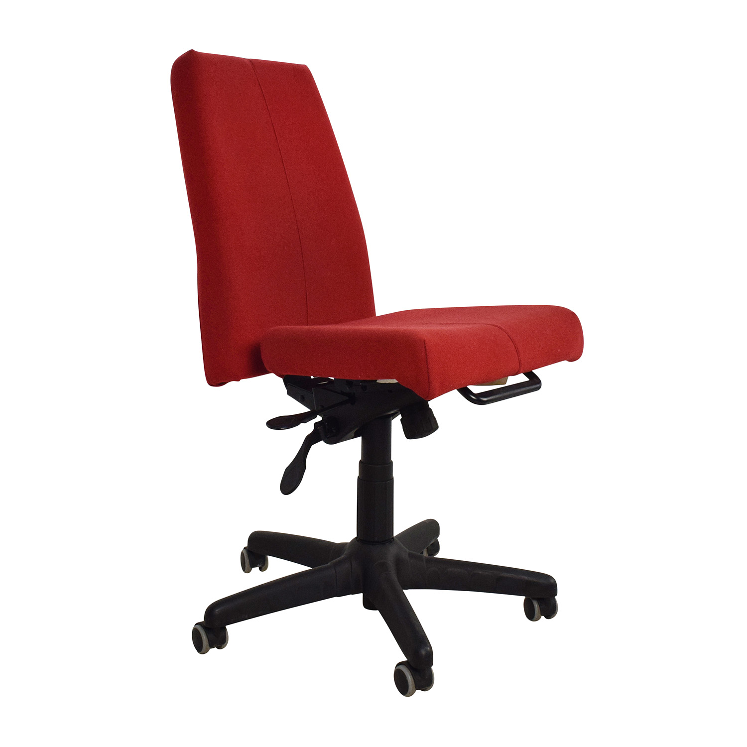 90 off red armless adjustable home office chair chairs for Armless office chairs