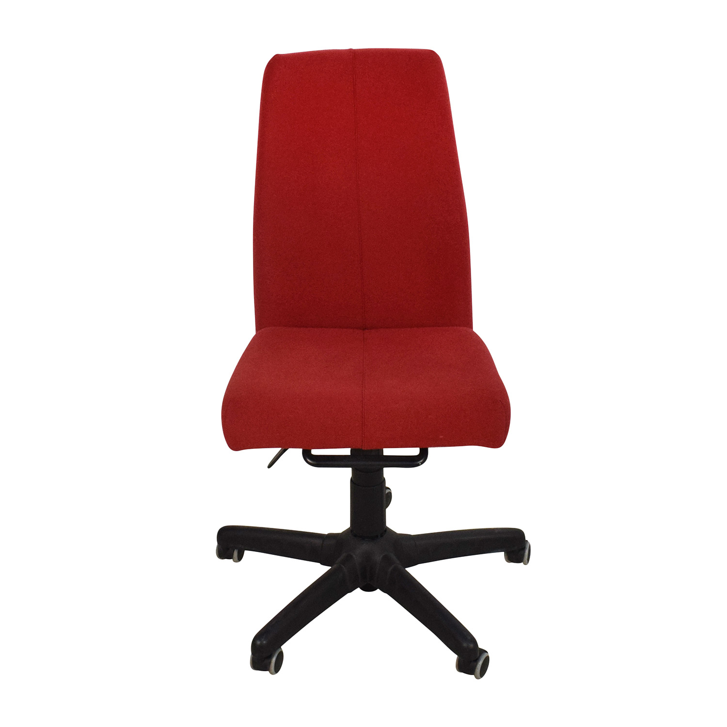 Red Armless Adjustable Home Office Chair / Chairs