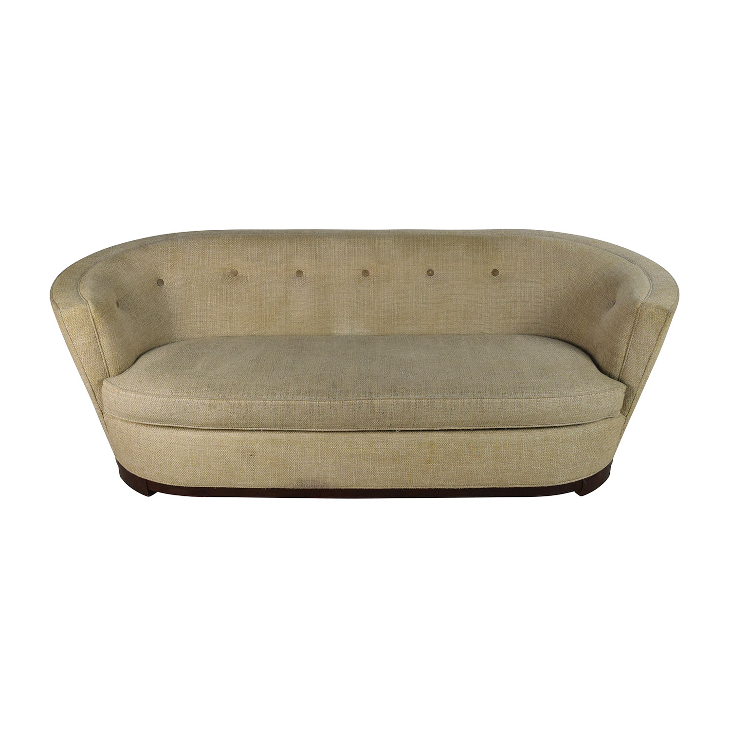 Raymour and Flanigan Raymour & Flanigan Visanti 90 Tan Curved Sofa coupon