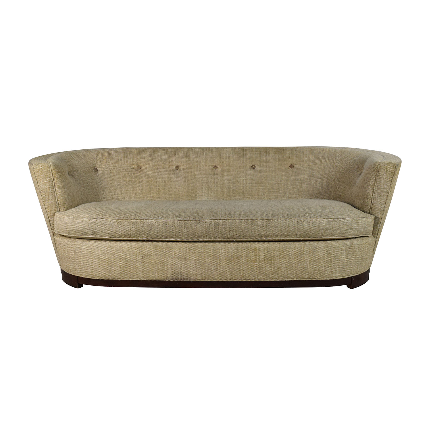 Raymour and Flanigan Raymour & Flanigan Visanti 90 Tan Curved Sofa dimensions