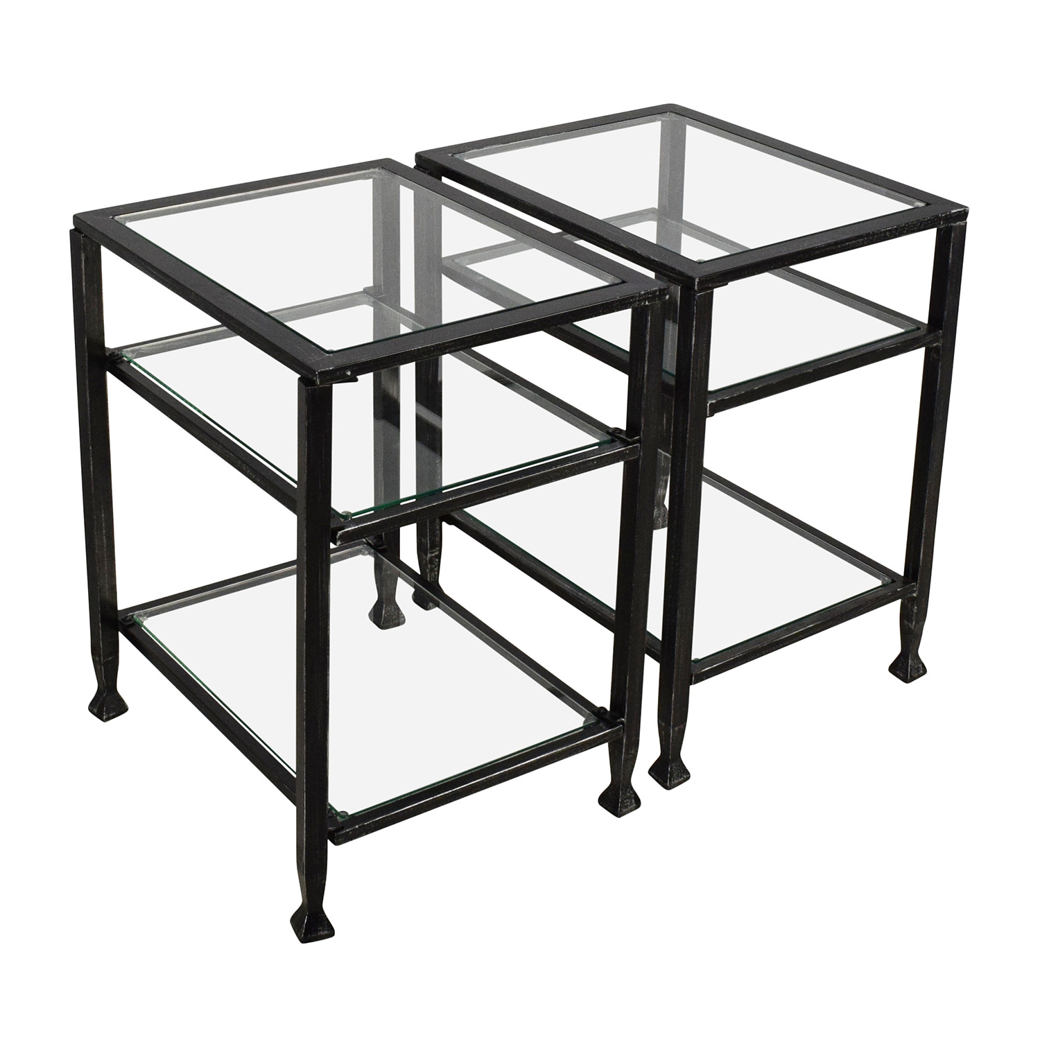 ... Harper Blvd Bunch Metal Glass End Table Pair / End Tables ...