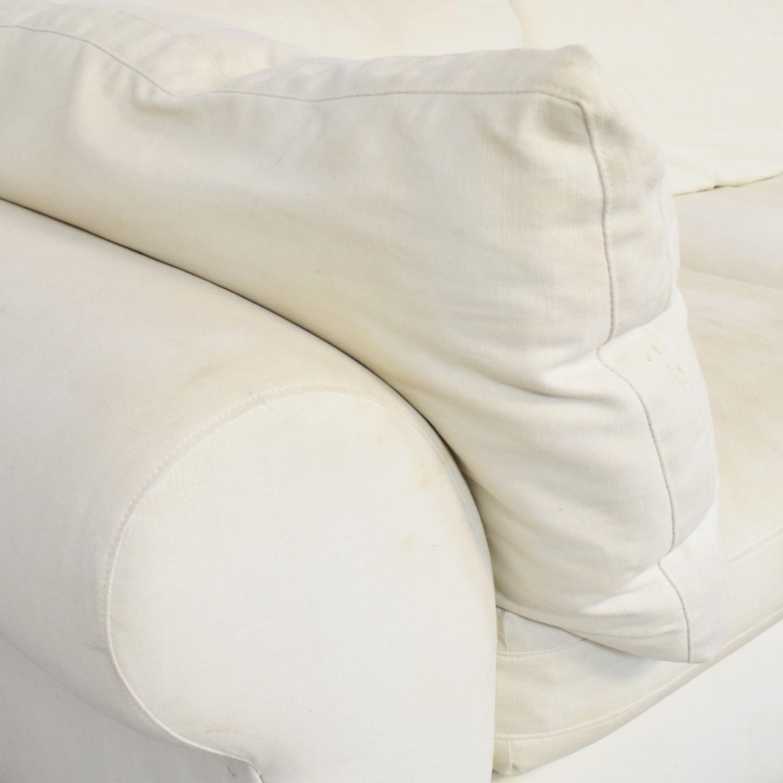 Pottery Barn Pottery Barn PB Air Roll Arm Sectional Sofa for sale