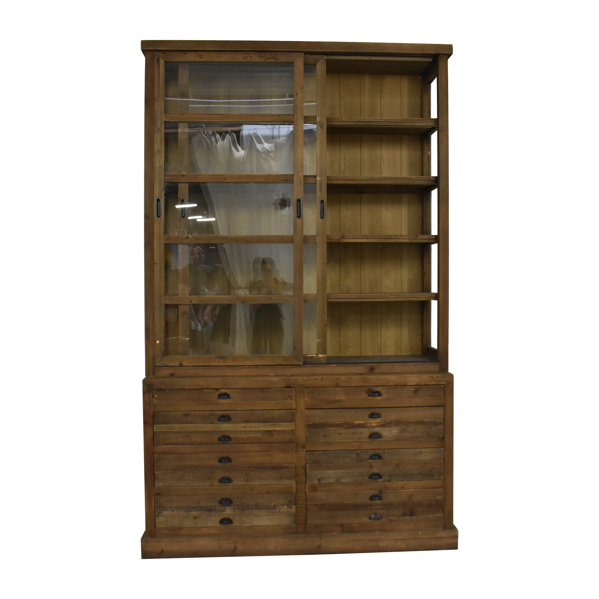 Restoration Hardware Restoration Hardware Printmaker's Sideboard and Hutch dimensions