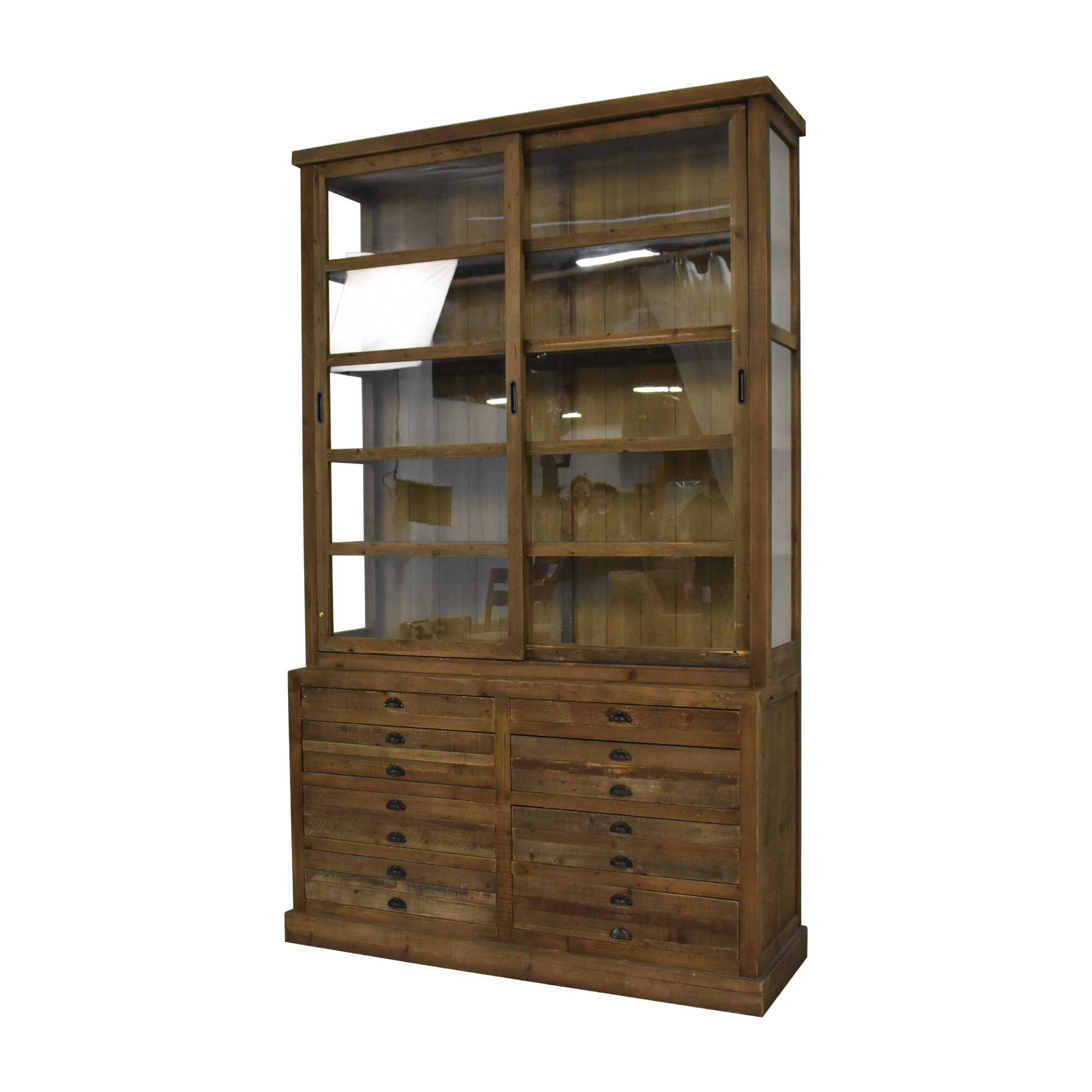buy Restoration Hardware Restoration Hardware Printmaker's Sideboard and Hutch online
