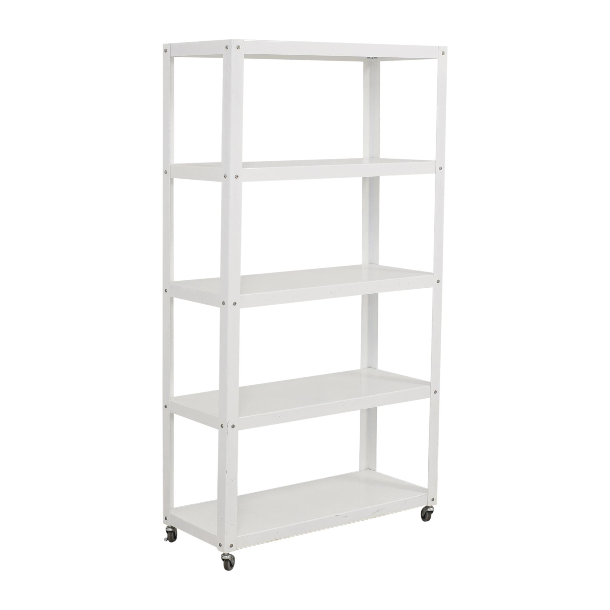 CB2 Go-Cart Rolling Bookcase / Storage
