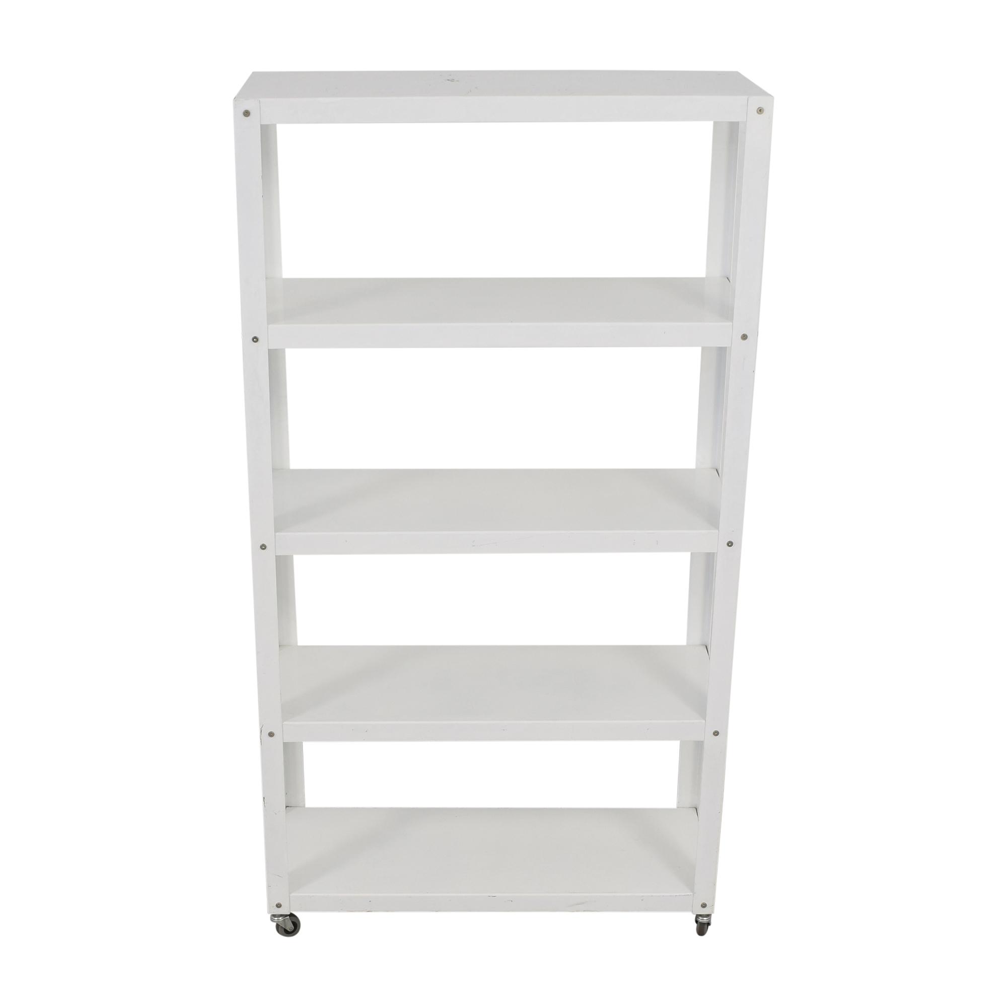 CB2 CB2 Go-Cart Rolling Bookcase dimensions