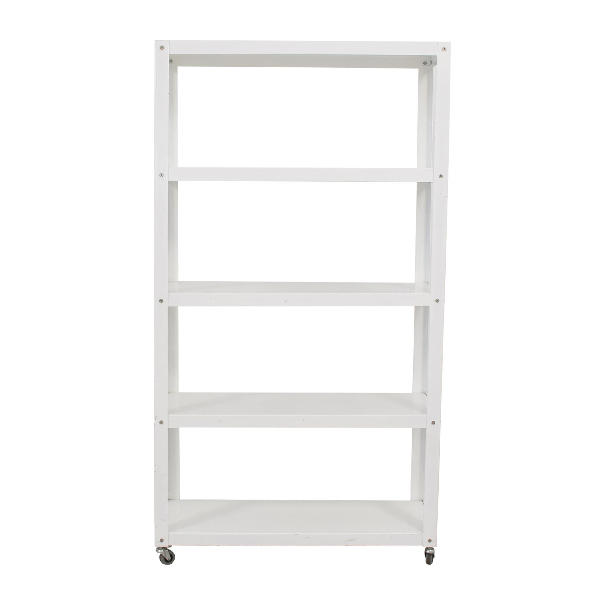 CB2 Go-Cart Rolling Bookcase sale