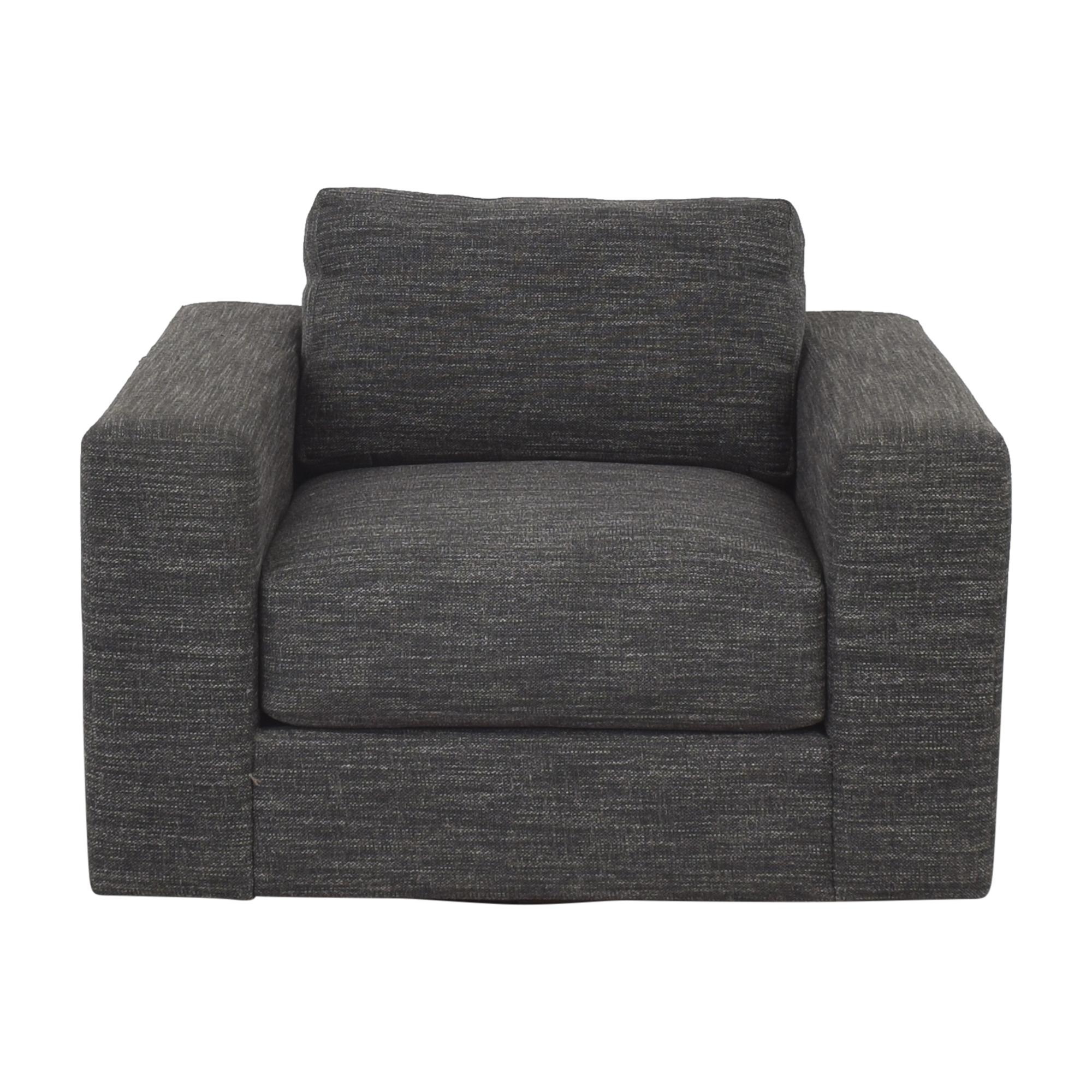 West Elm West Elm Urban Swivel Chair dark gray