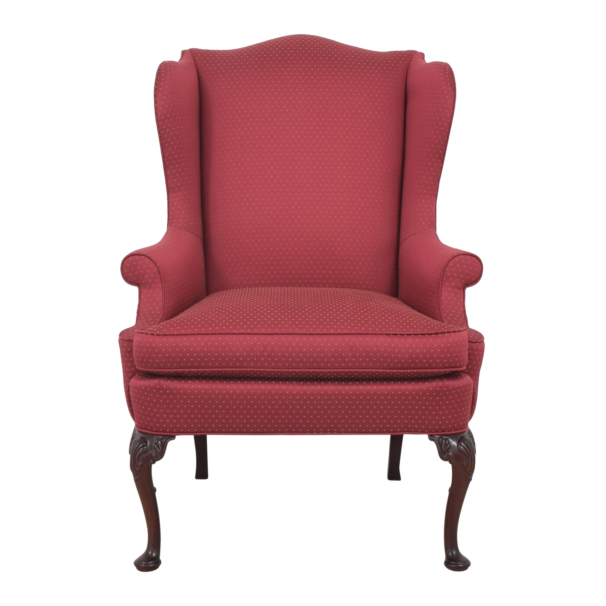 Hickory Chair Hickory Chair Wing Accent Chair red