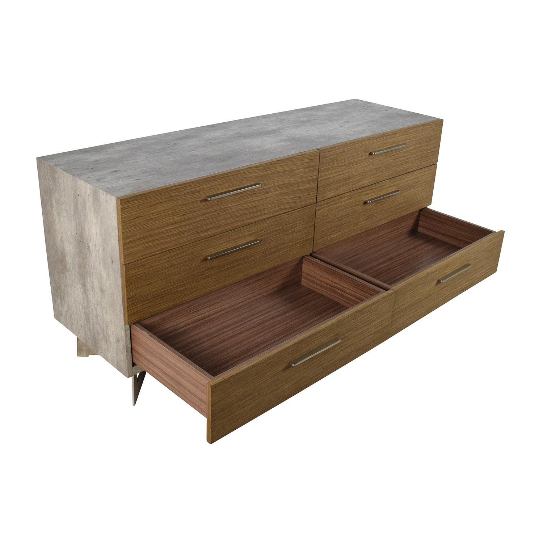 modloft modloft broome walnut and concrete dresser for sale - Modloft