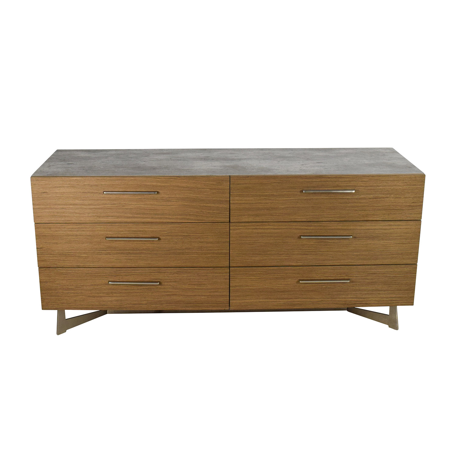 shop Modloft Broome Walnut and Concrete Dresser Modloft