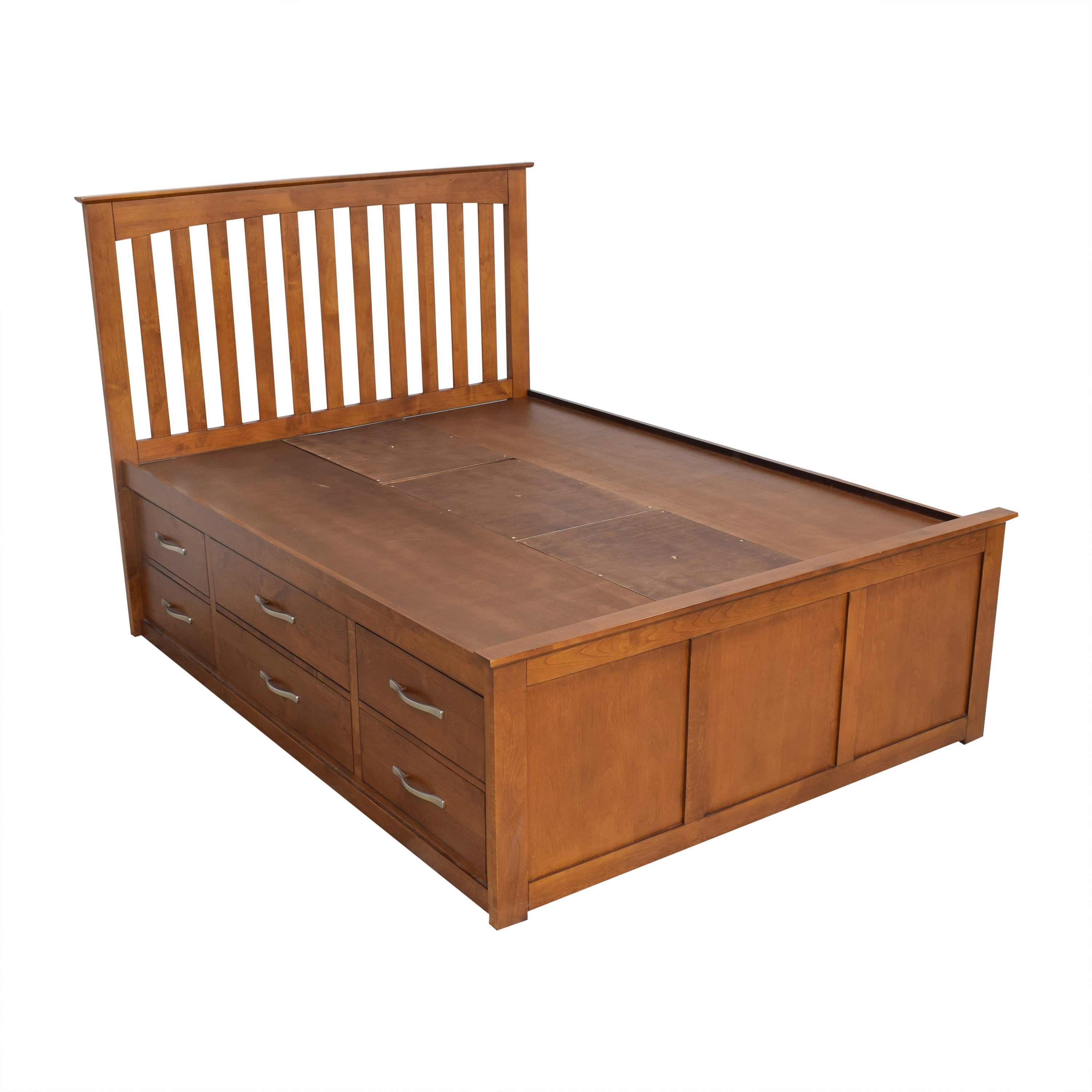Raymour & Flanigan Raymour & Flanigan Everitt Queen Storage Bed nyc
