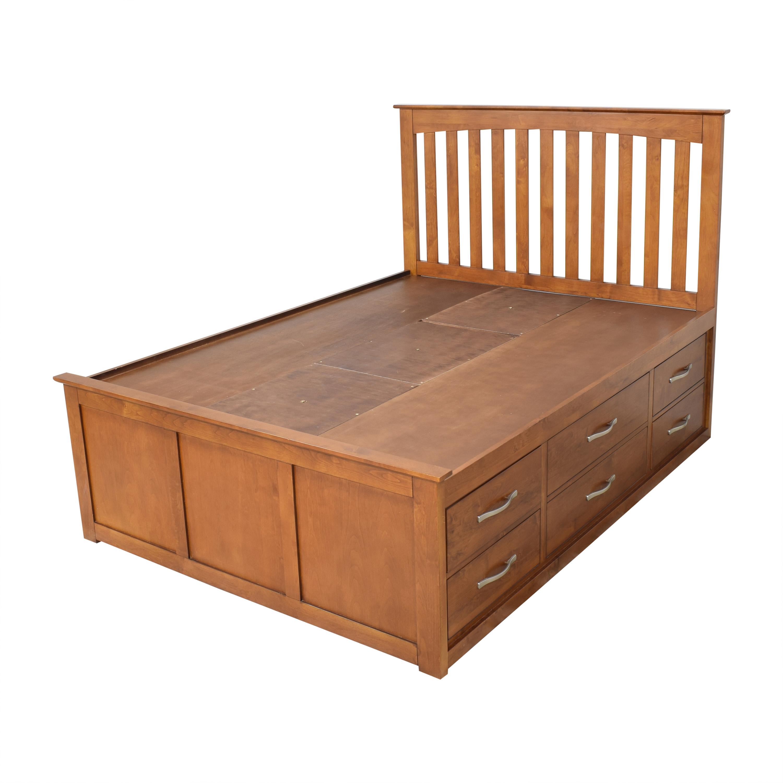 Raymour & Flanigan Everitt Queen Storage Bed sale