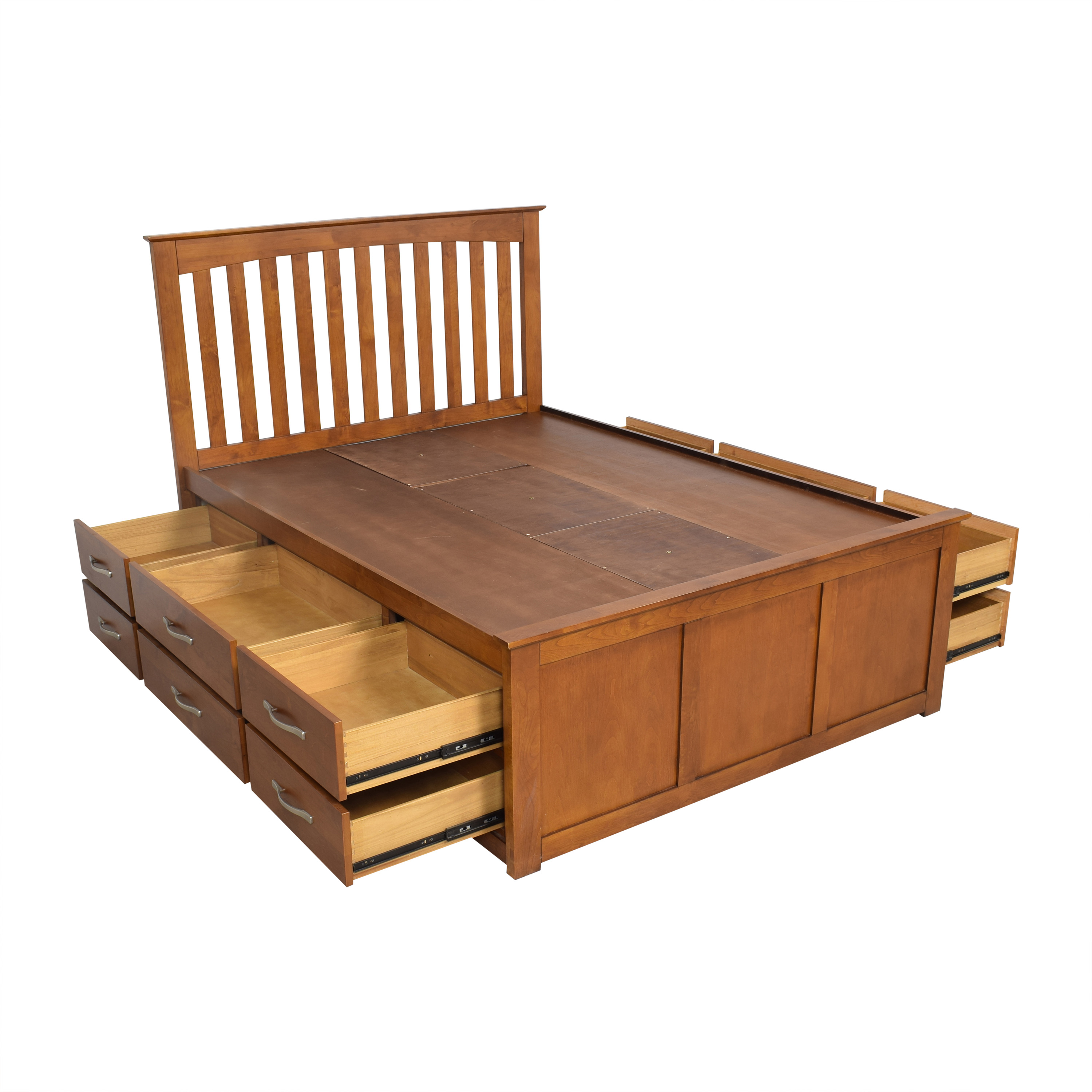 Raymour & Flanigan Raymour & Flanigan Everitt Queen Storage Bed used