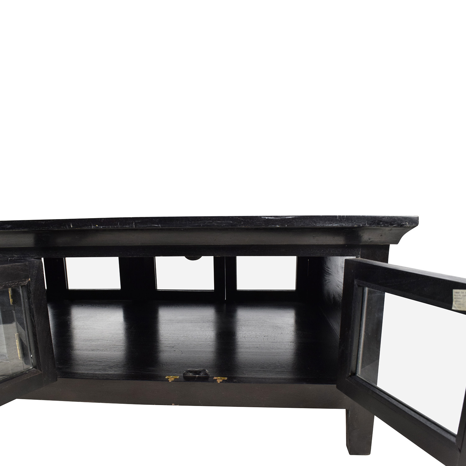 64% OFF Black Wooden Storage Coffee Table Tables