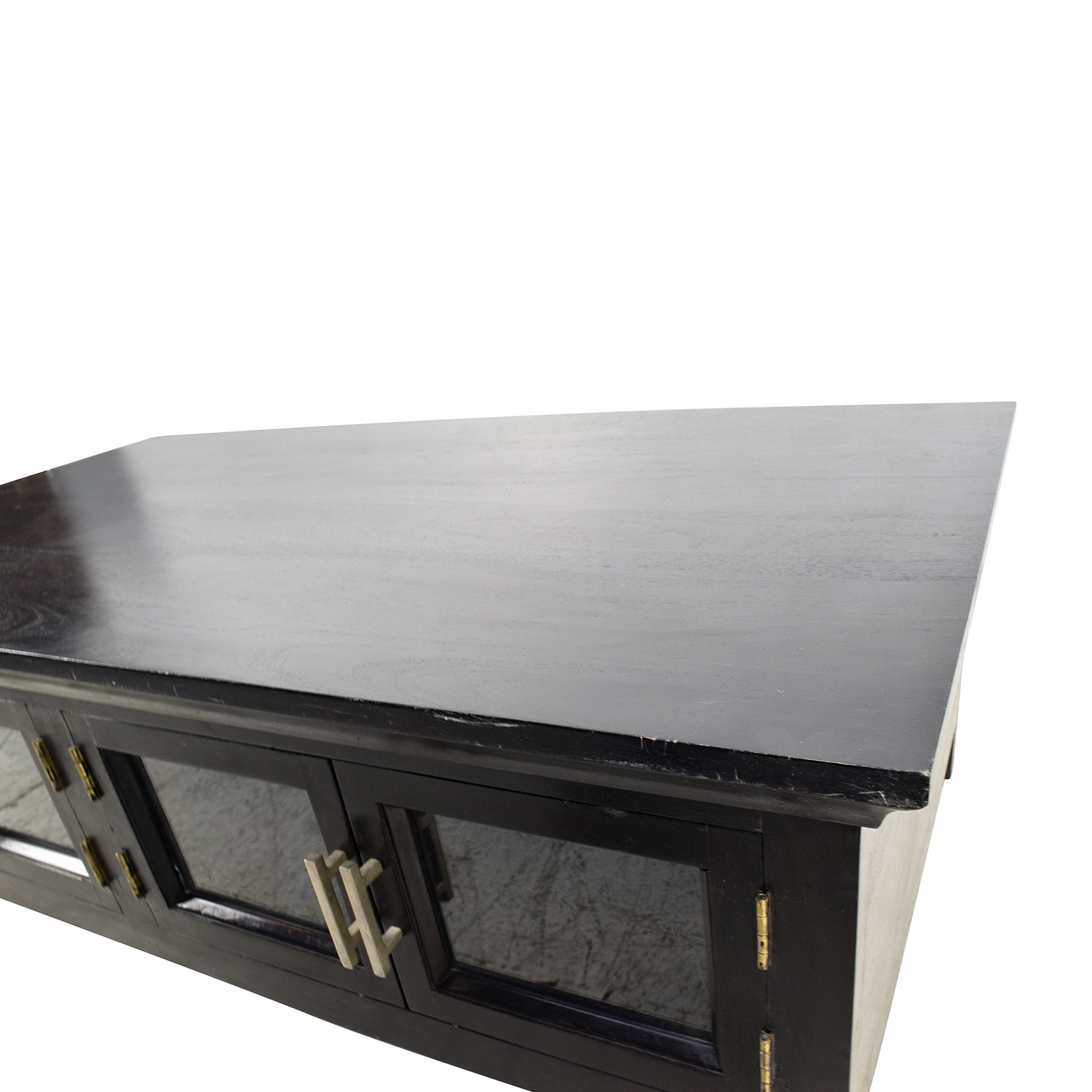 Black Coffee Table Shelf: Black Wooden Storage Coffee Table / Tables