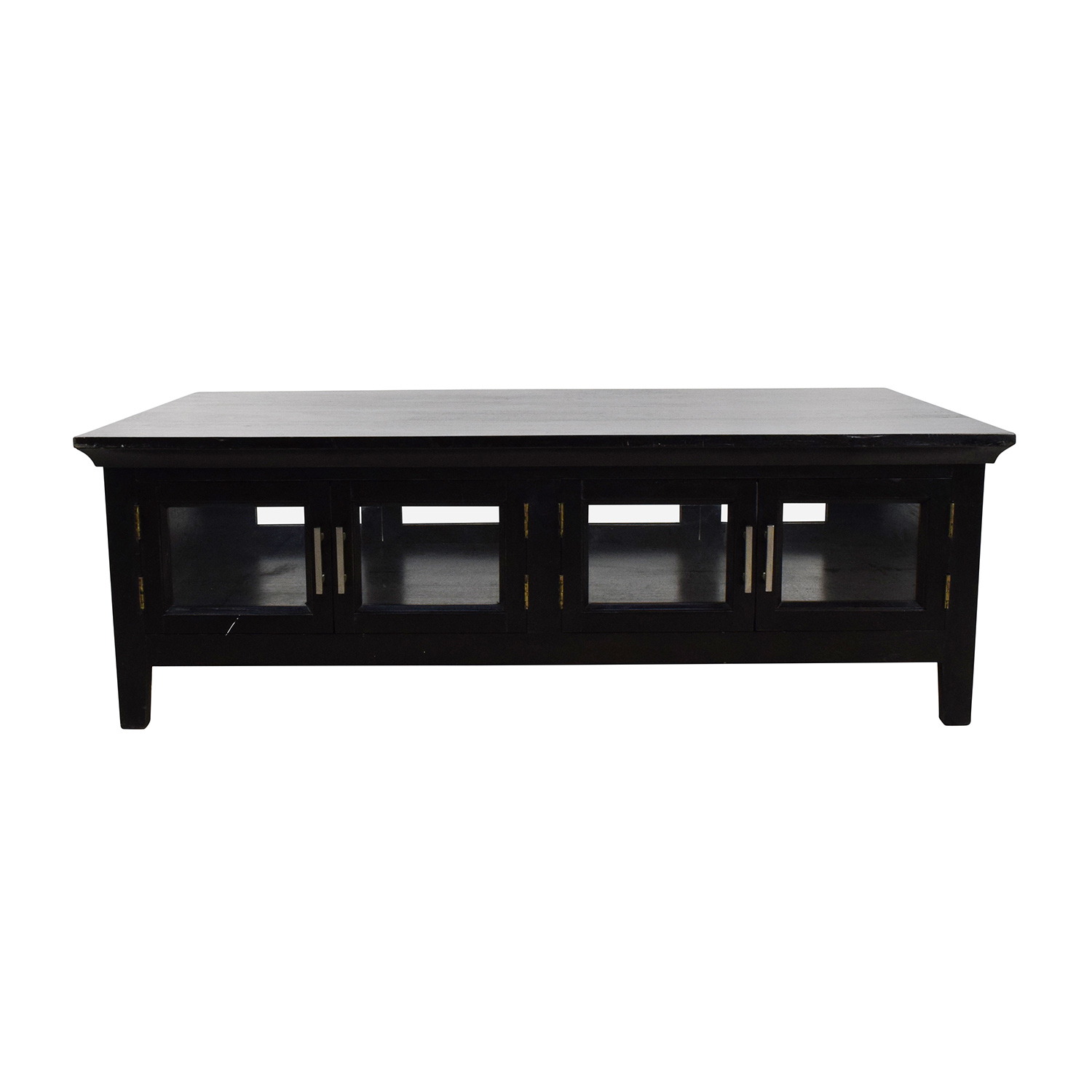 Black Wooden Storage Coffee Table discount