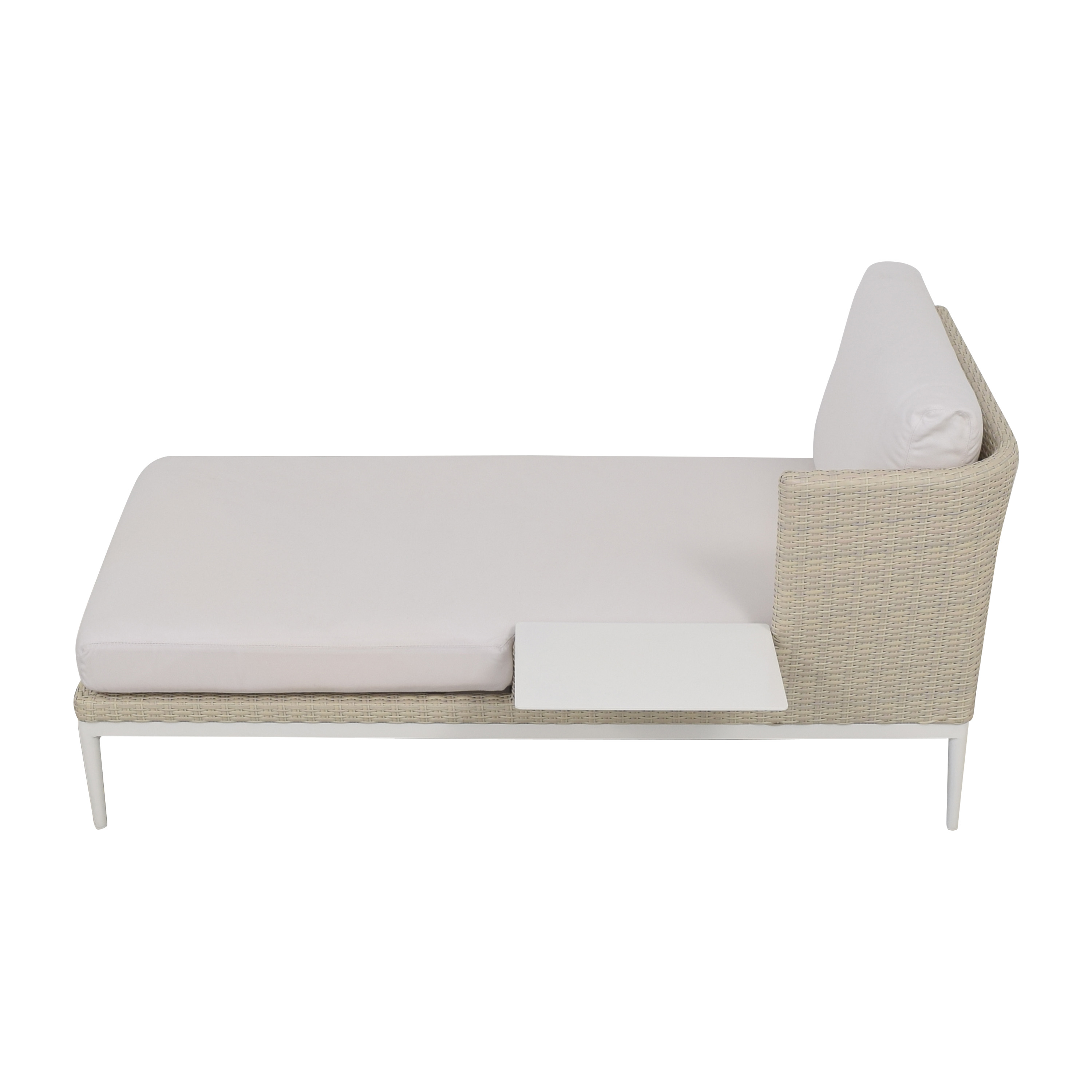 Frontgate Frontgate Porta Forma Palazzo Chaise with Table dimensions