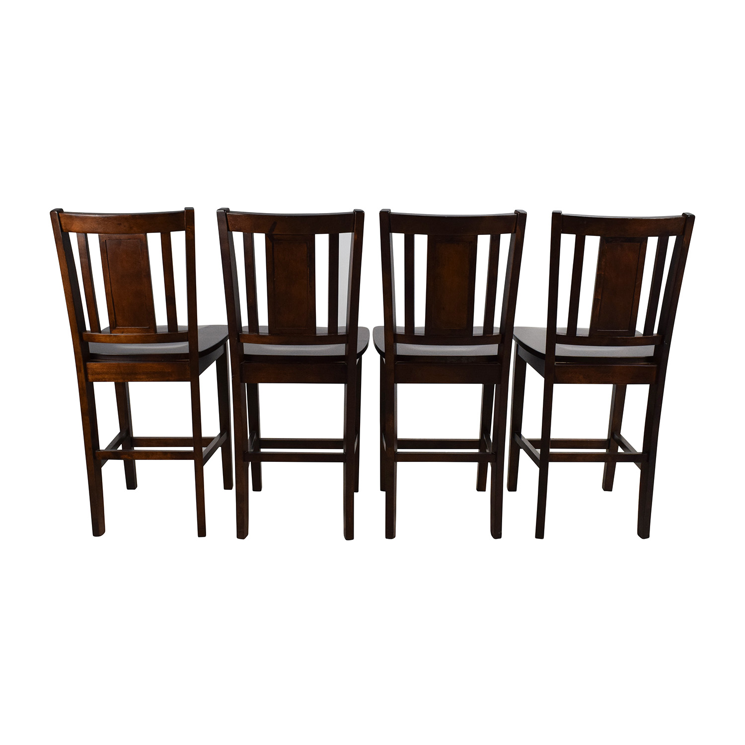 80 Off Set Of Full Back Bar Stools Chairs