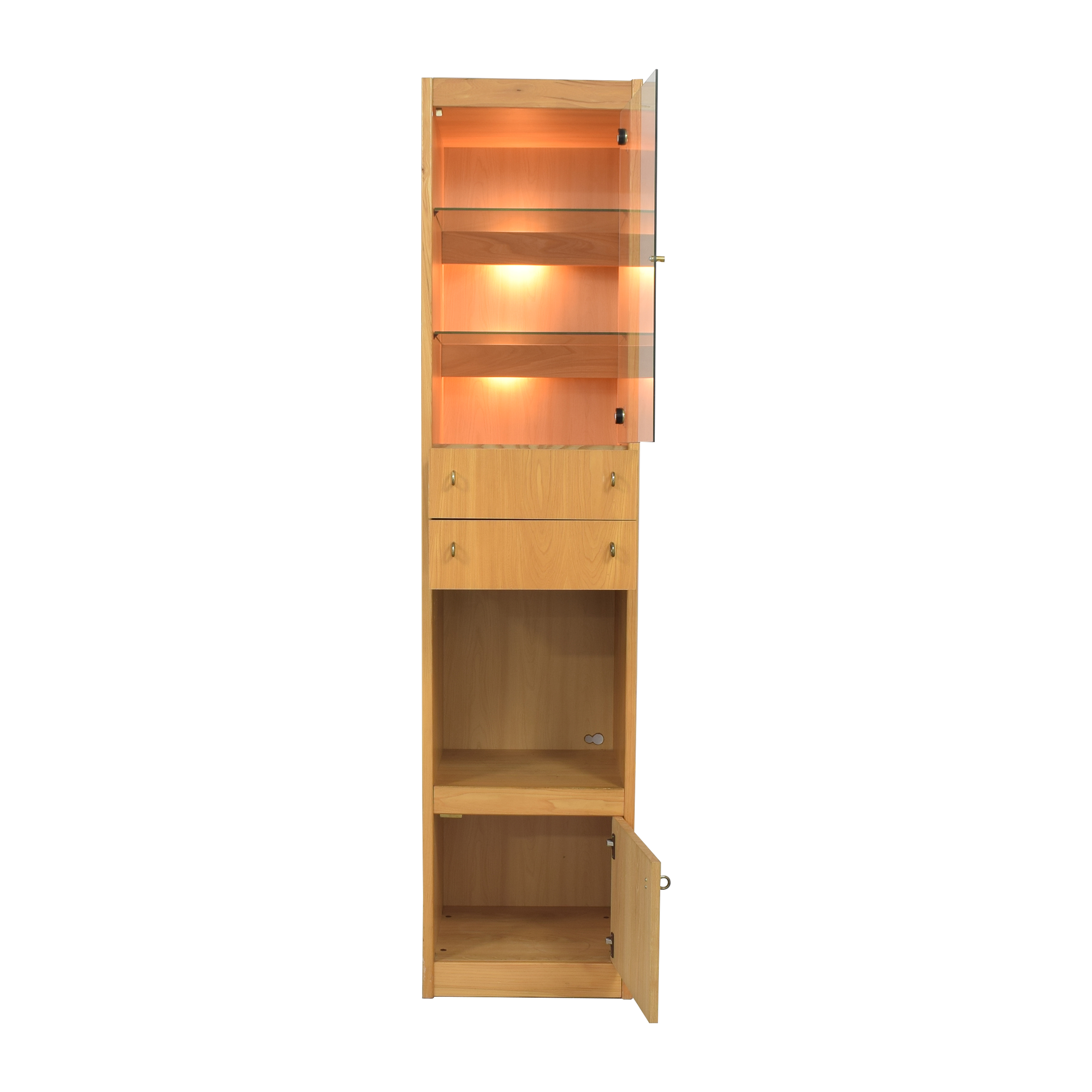shop Macy's Tall Lighted Cabinet Macy's Storage