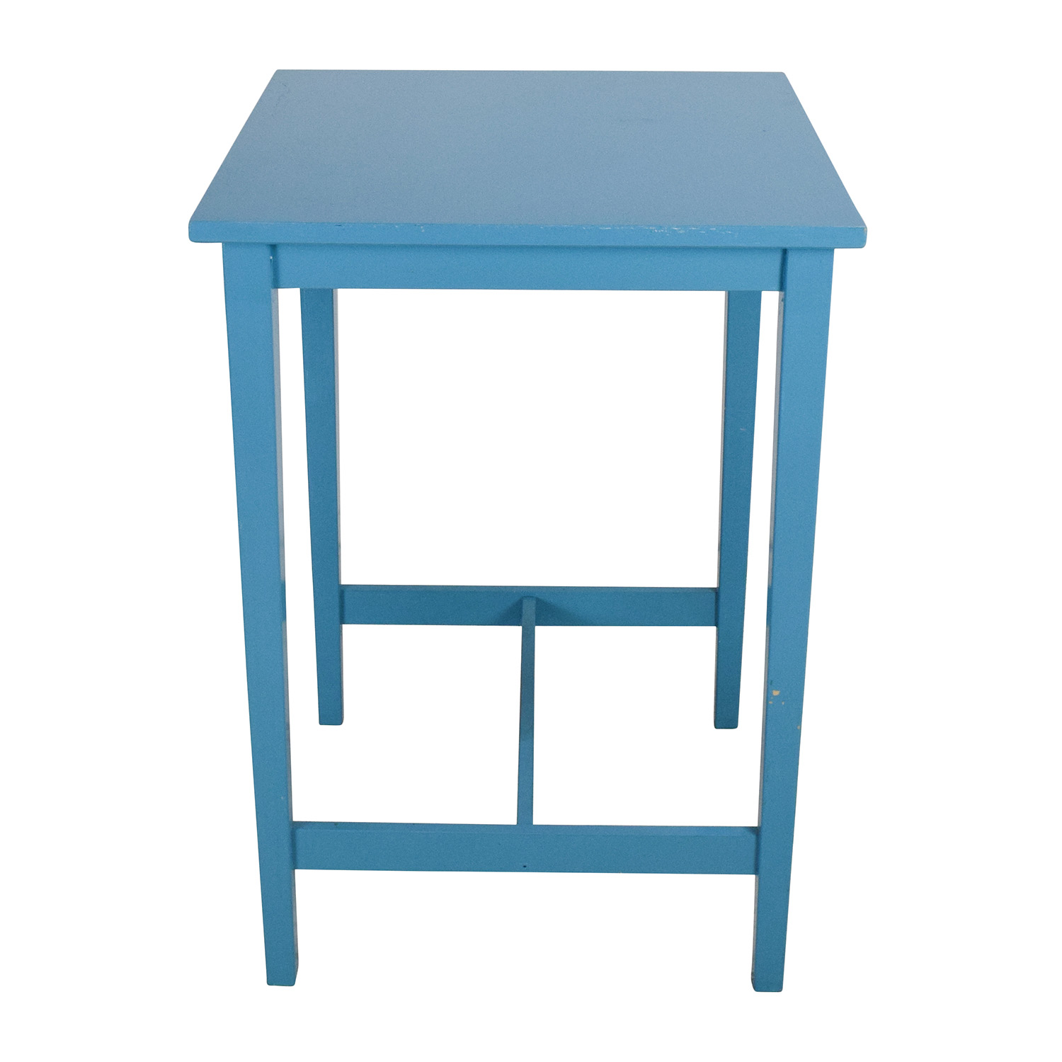 buy Blue Wooden High Table  Utility Tables