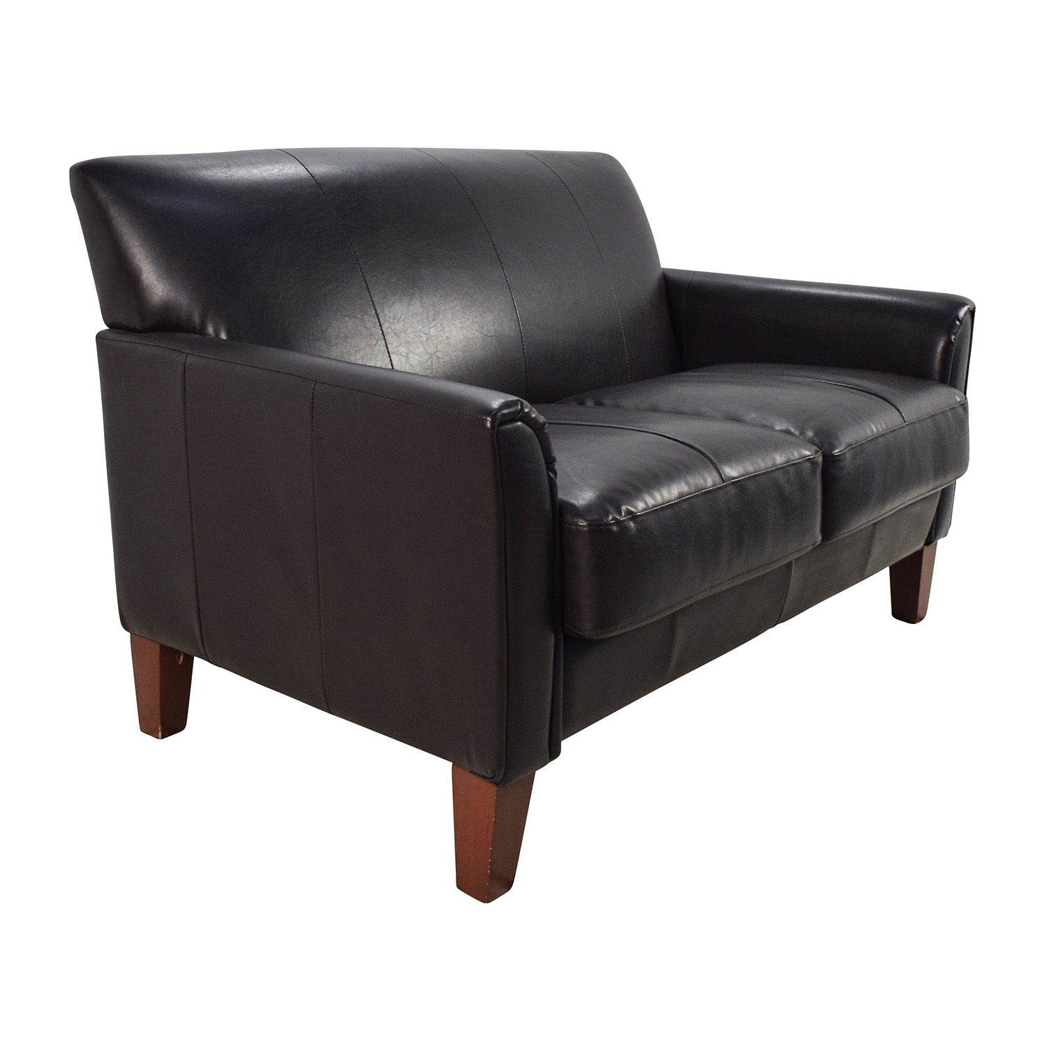 Black Leather Sofa And Loveseat Athens Black Italian Leather Sofa And Loveseat