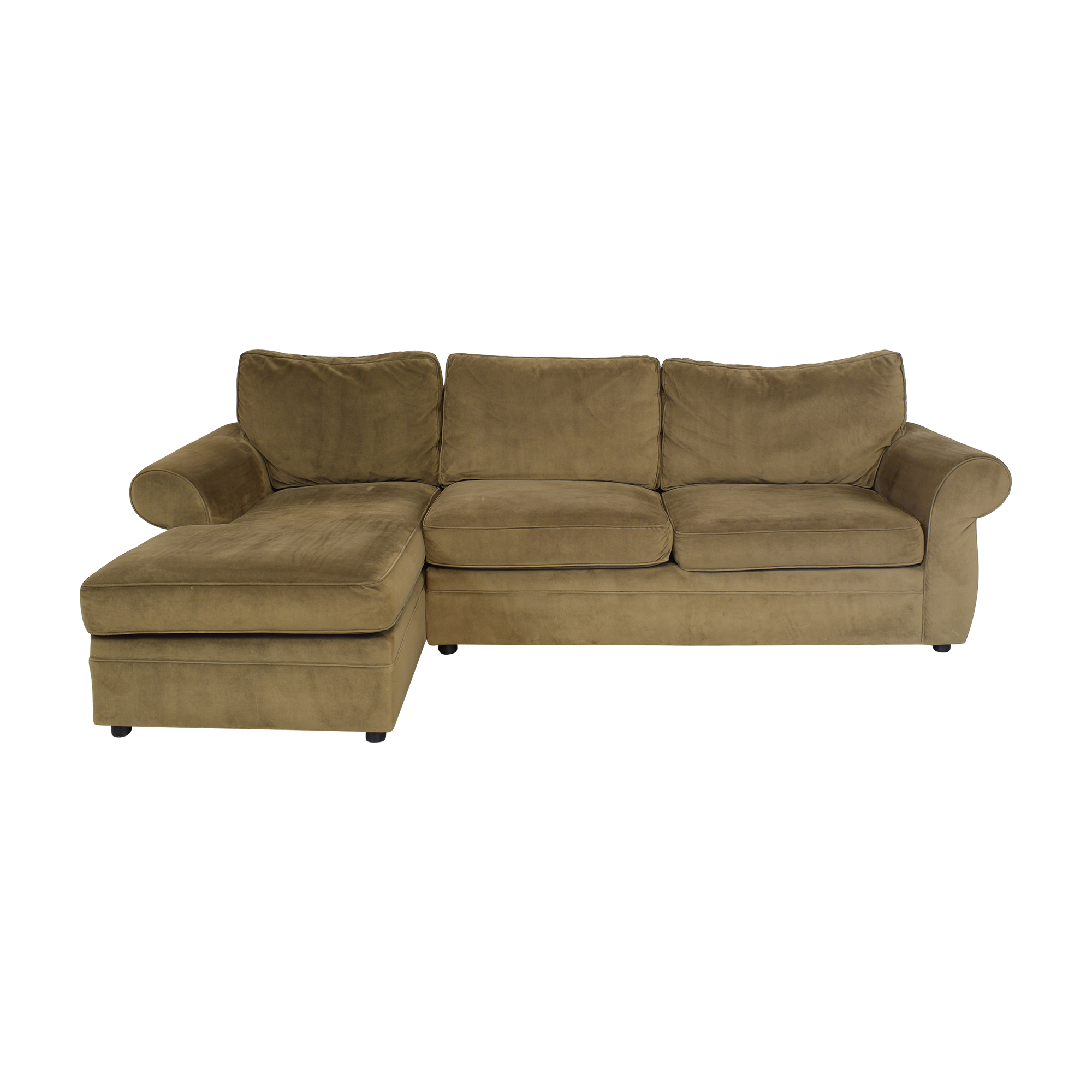 Pottery Barn Pottery Barn Roll Arm Sectional Sofa with Chaise nj
