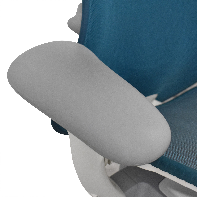 Herman Miller Herman Miller Mirra Chair blue and white