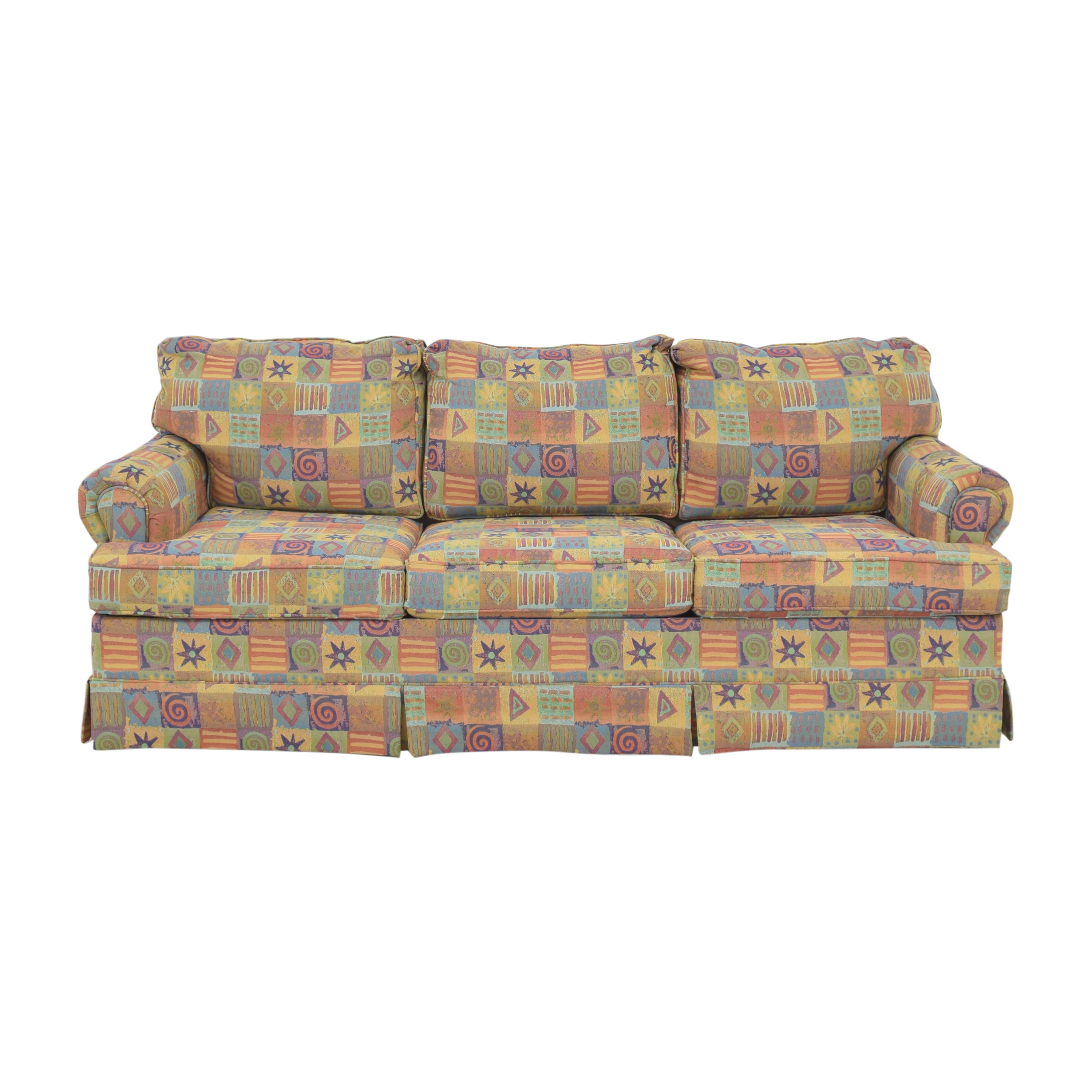 Multicolor Patterned Sleeper Sofa ma