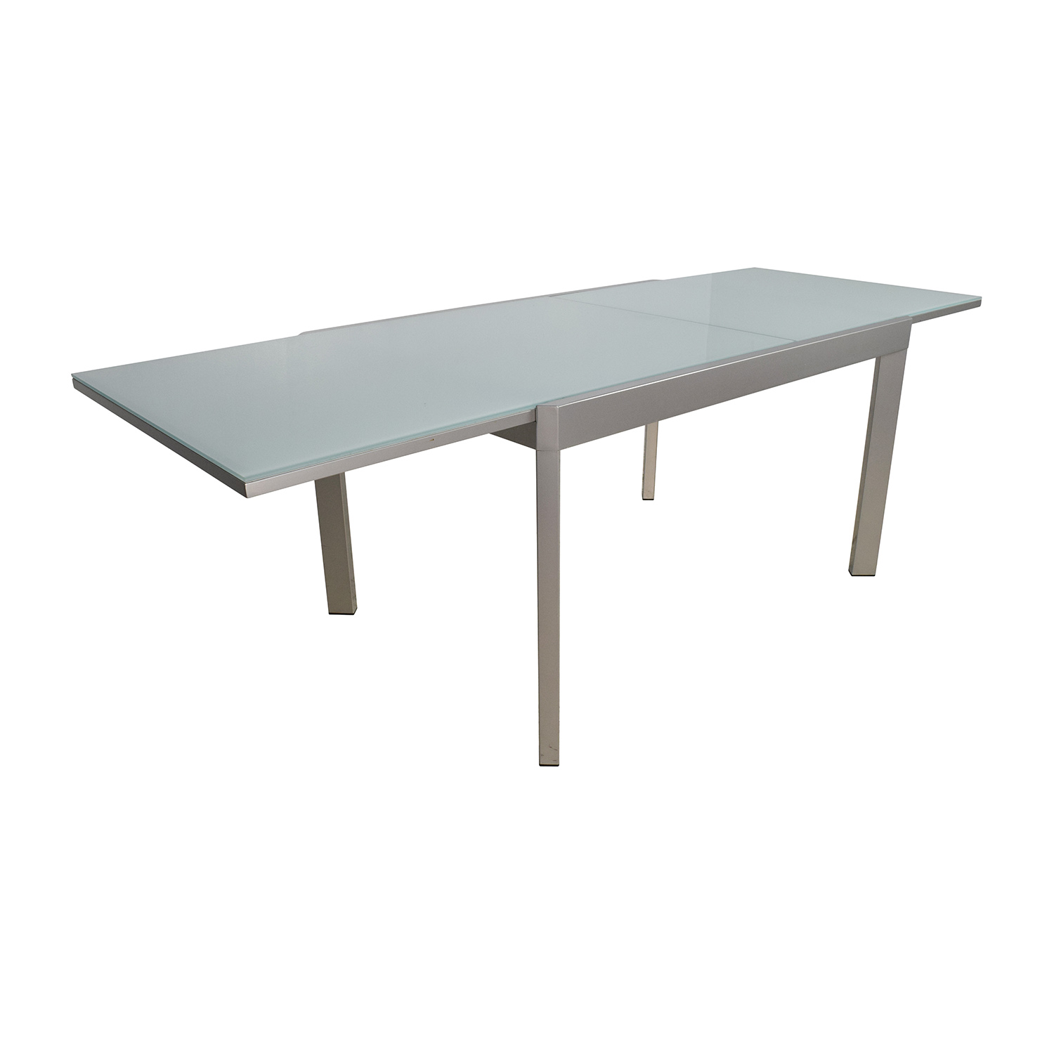 86 off calligaris calligaris extendable glass dining for Glass dining table