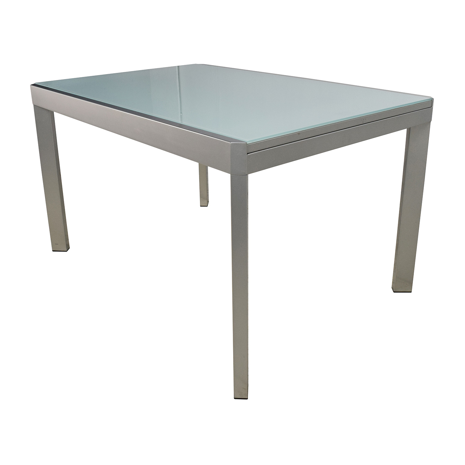 86 off calligaris calligaris extendable glass dining for Extendable glass dining table