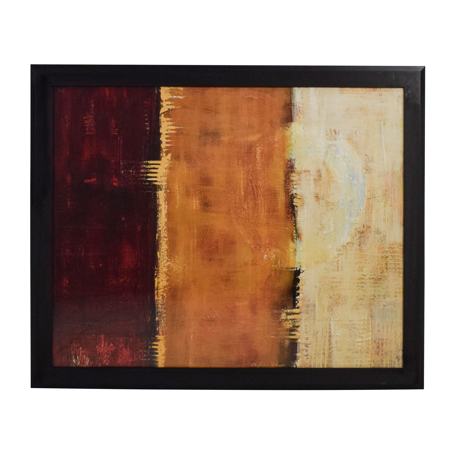 88% OFF , Z Gallerie Z Gallerie Framed Canvas Red Orange Yellow Wall Art /  Decor