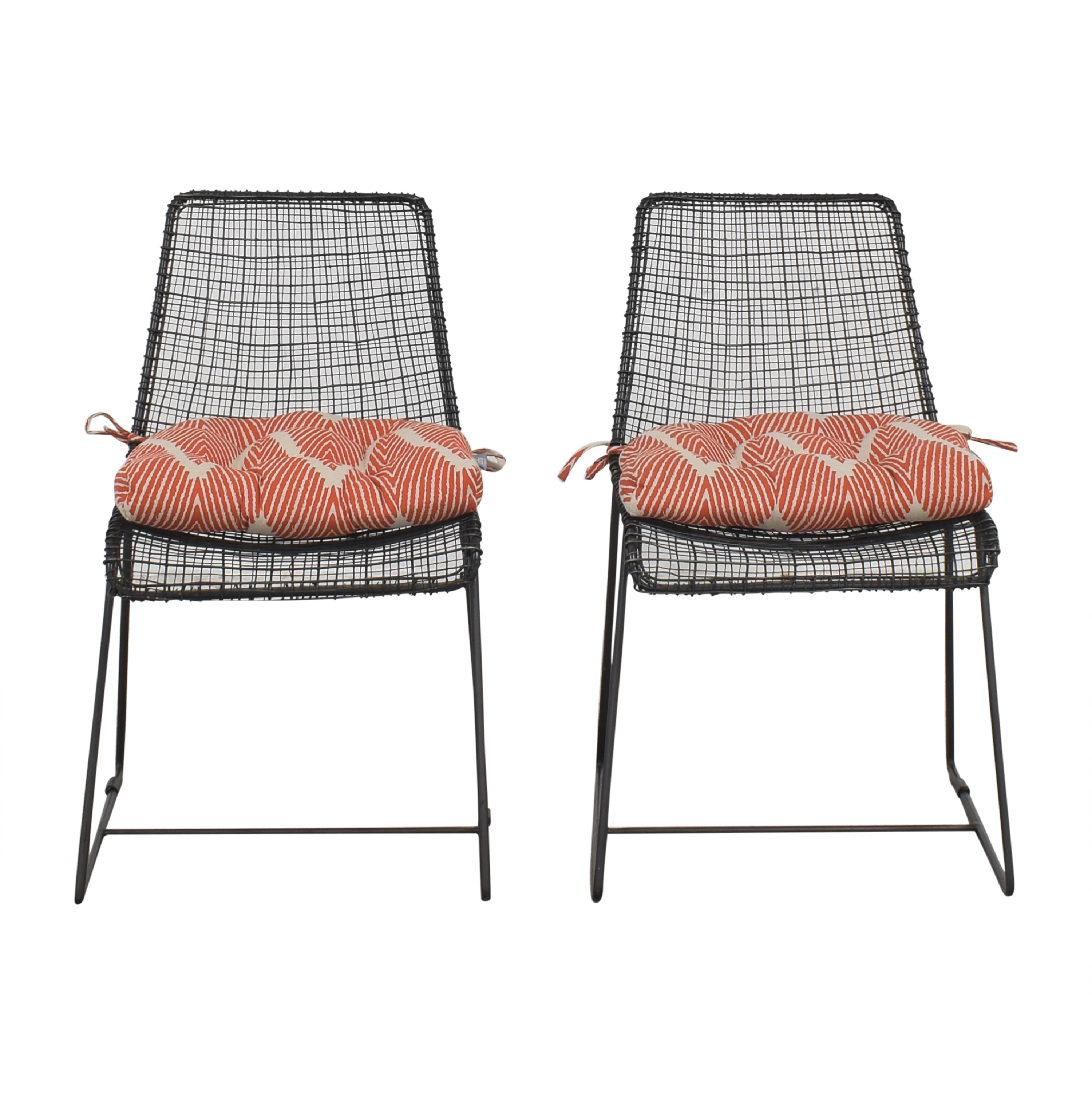 buy CB2 CB2 Reed Chairs with Cushions online