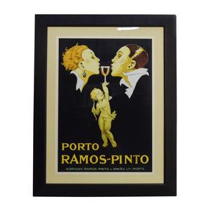 Rene Vincent Lithograph of Porto Ramos-Pinto