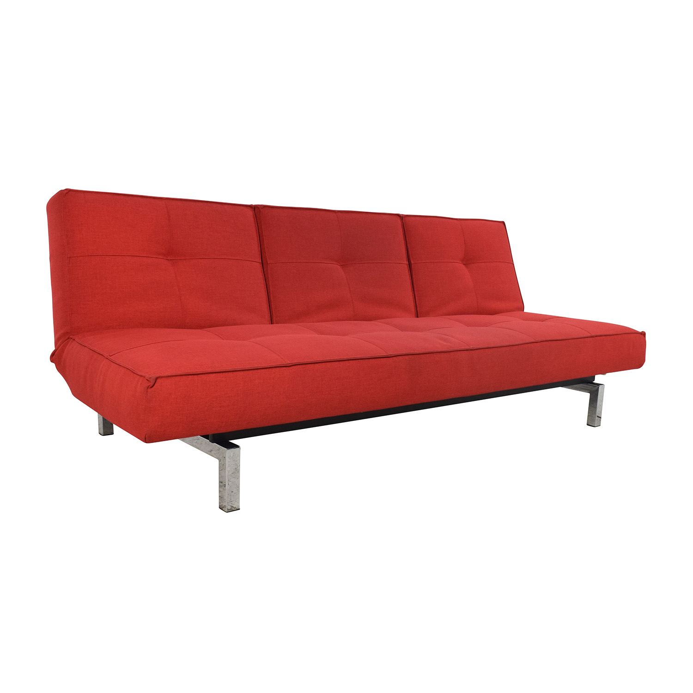 51% OFF - Room & Board Room & Board Eden Convertible Red Sofa / Sofas