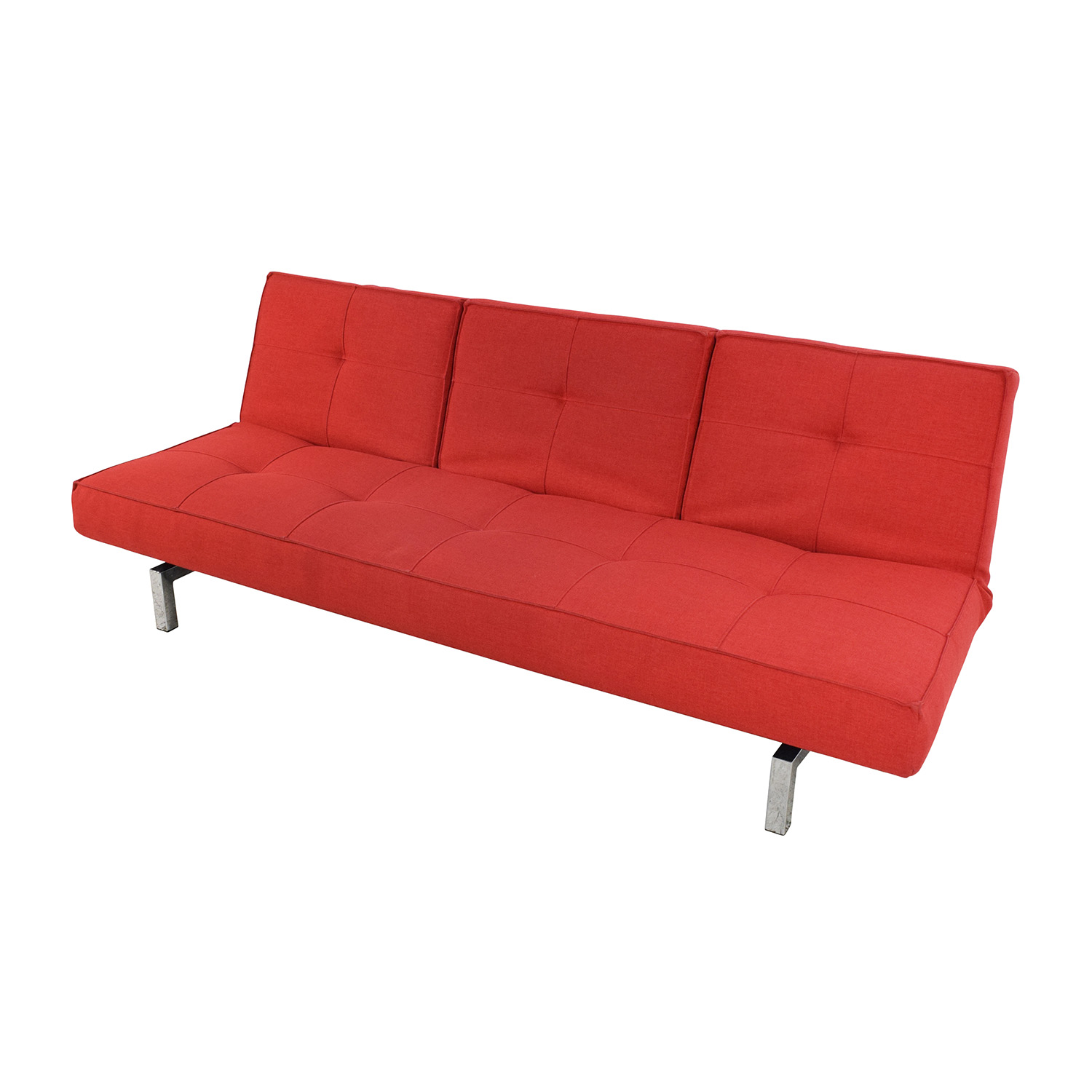 Room & Board Eden Convertible Red Sofa sale