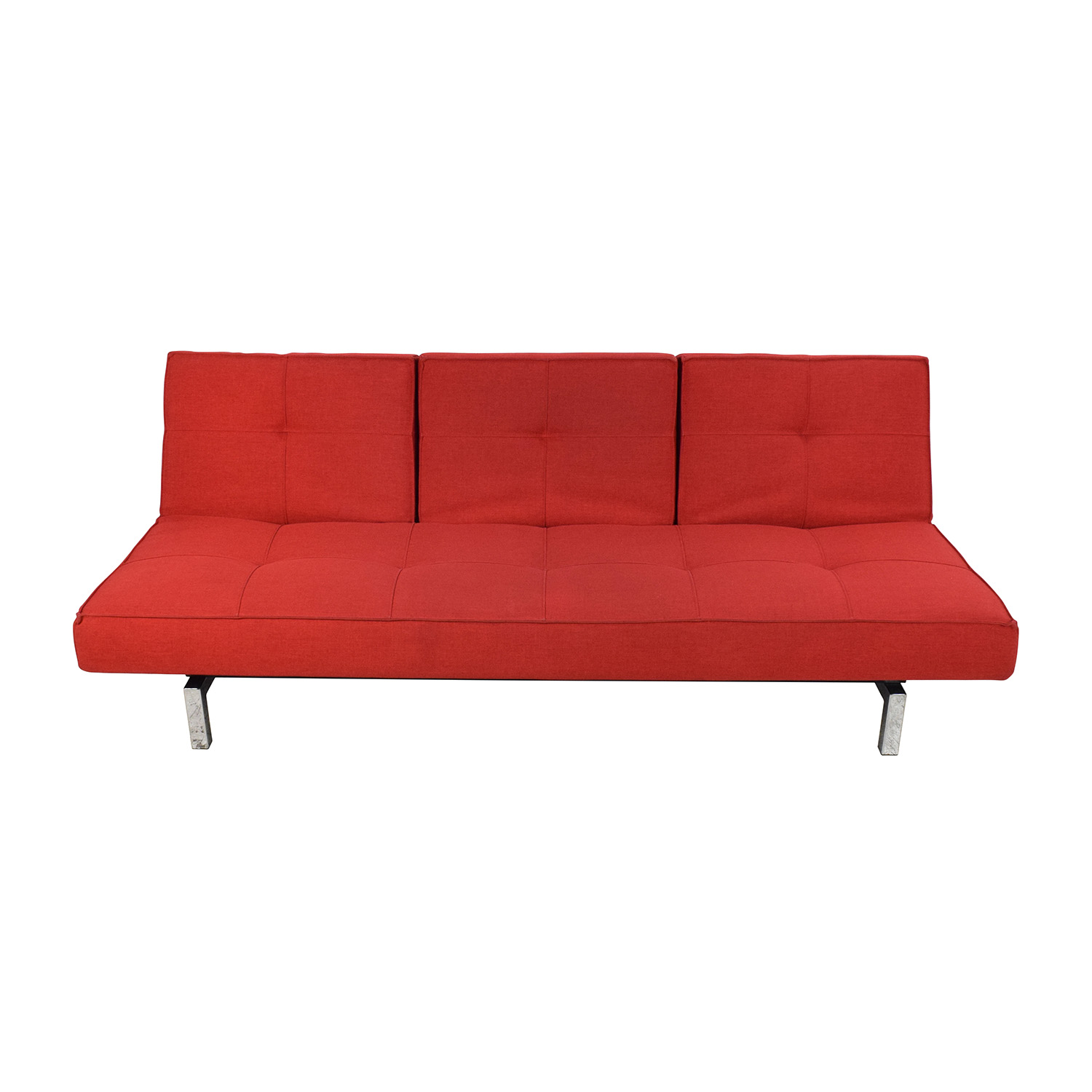 Room and Board Room & Board Eden Convertible Red Sofa Red