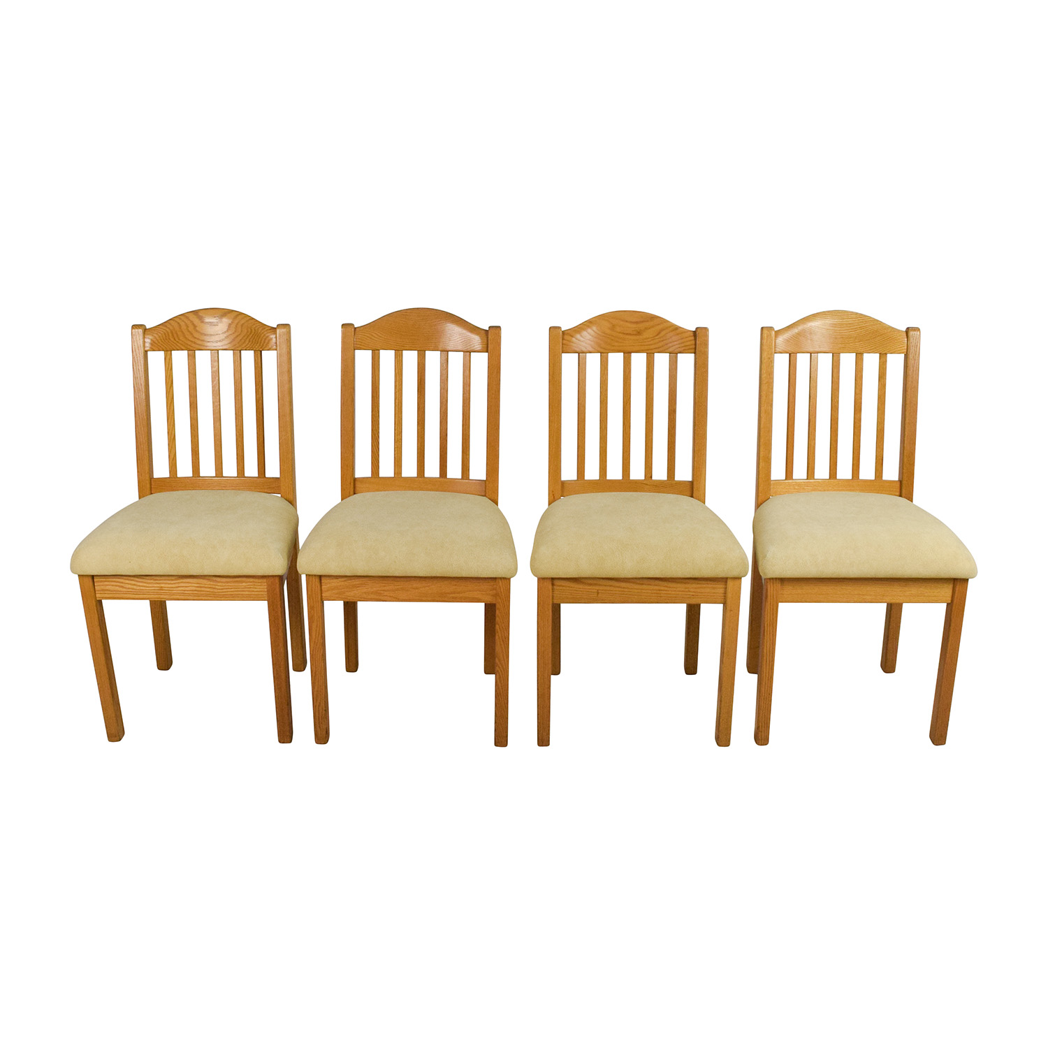 Set Of Wood Dining Chairs second hand