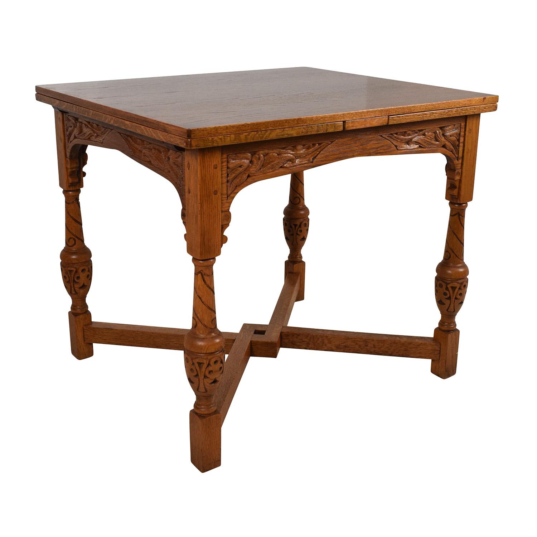 61 off antique oak extendable dining table tables. Black Bedroom Furniture Sets. Home Design Ideas