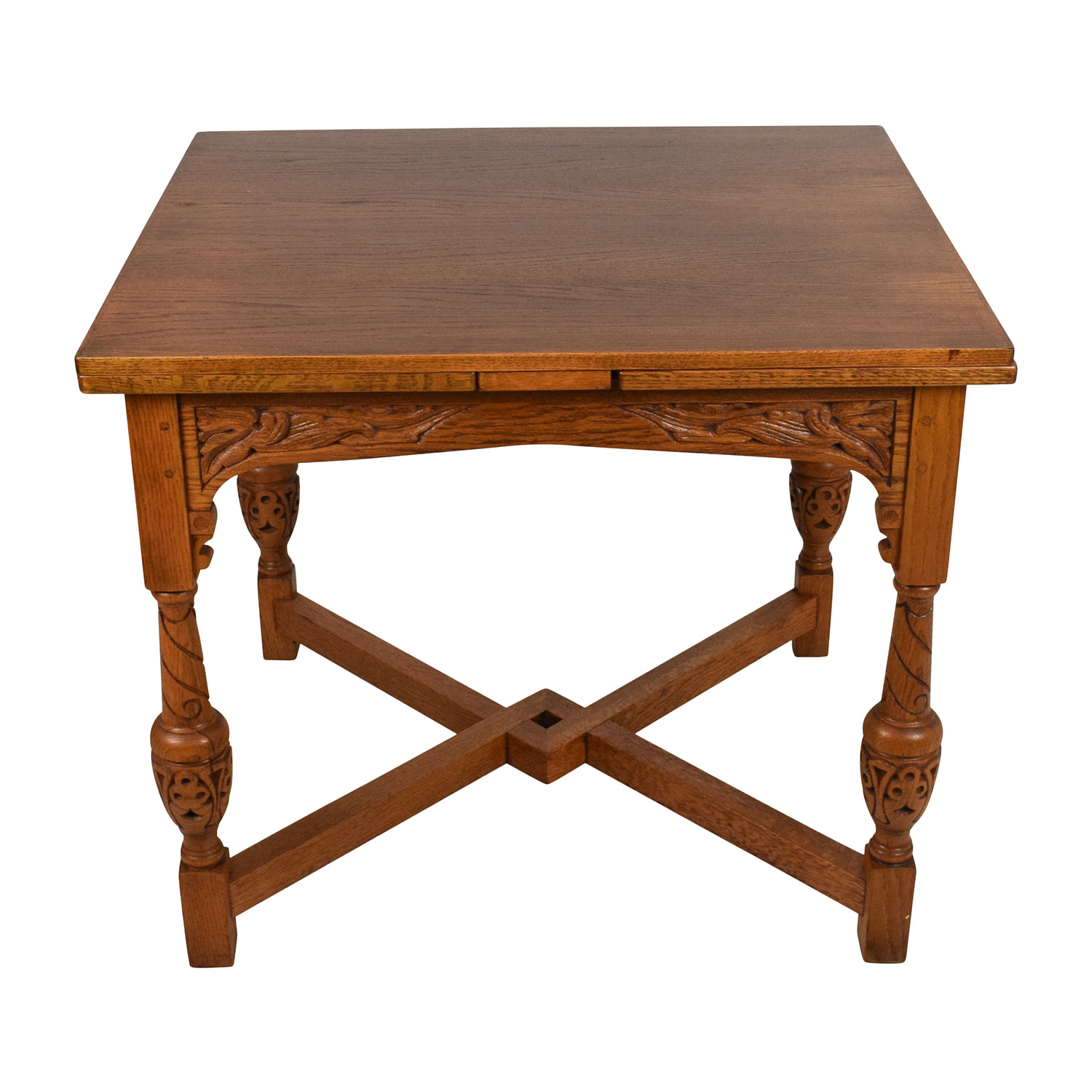 Antique Oak Extendable Dining Table Dinner Tables