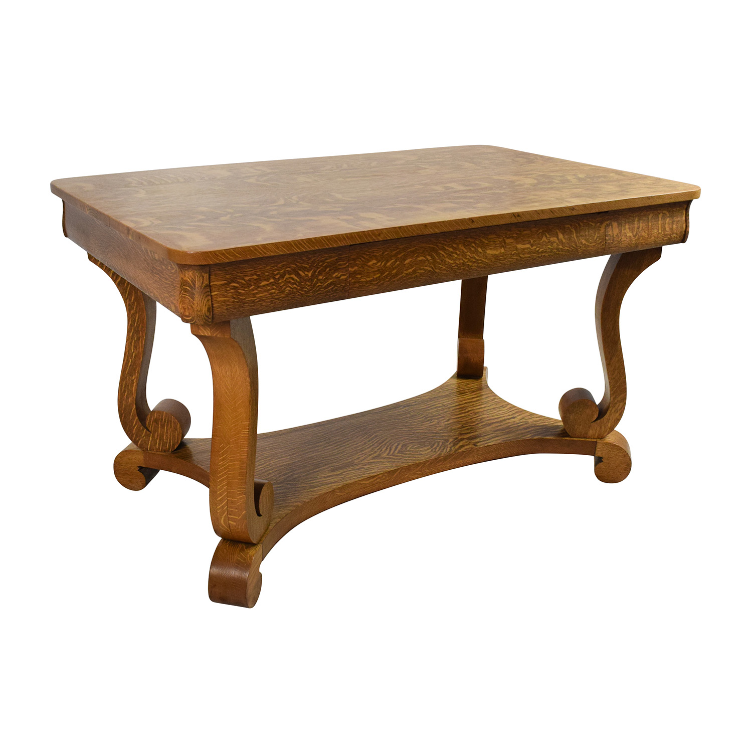 Antique Oak Table ~ Off antique oak library table tables