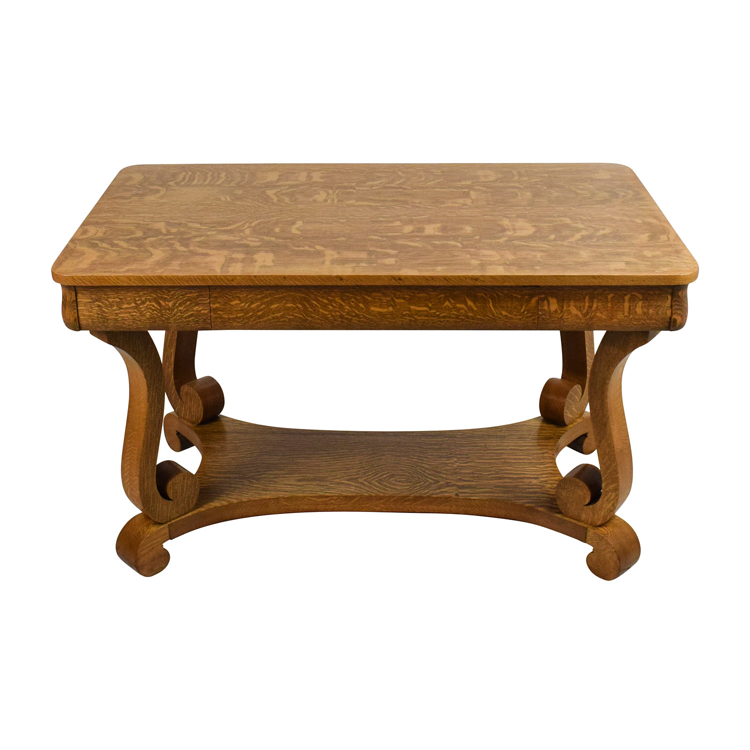 Antique Oak Library Table / Tables