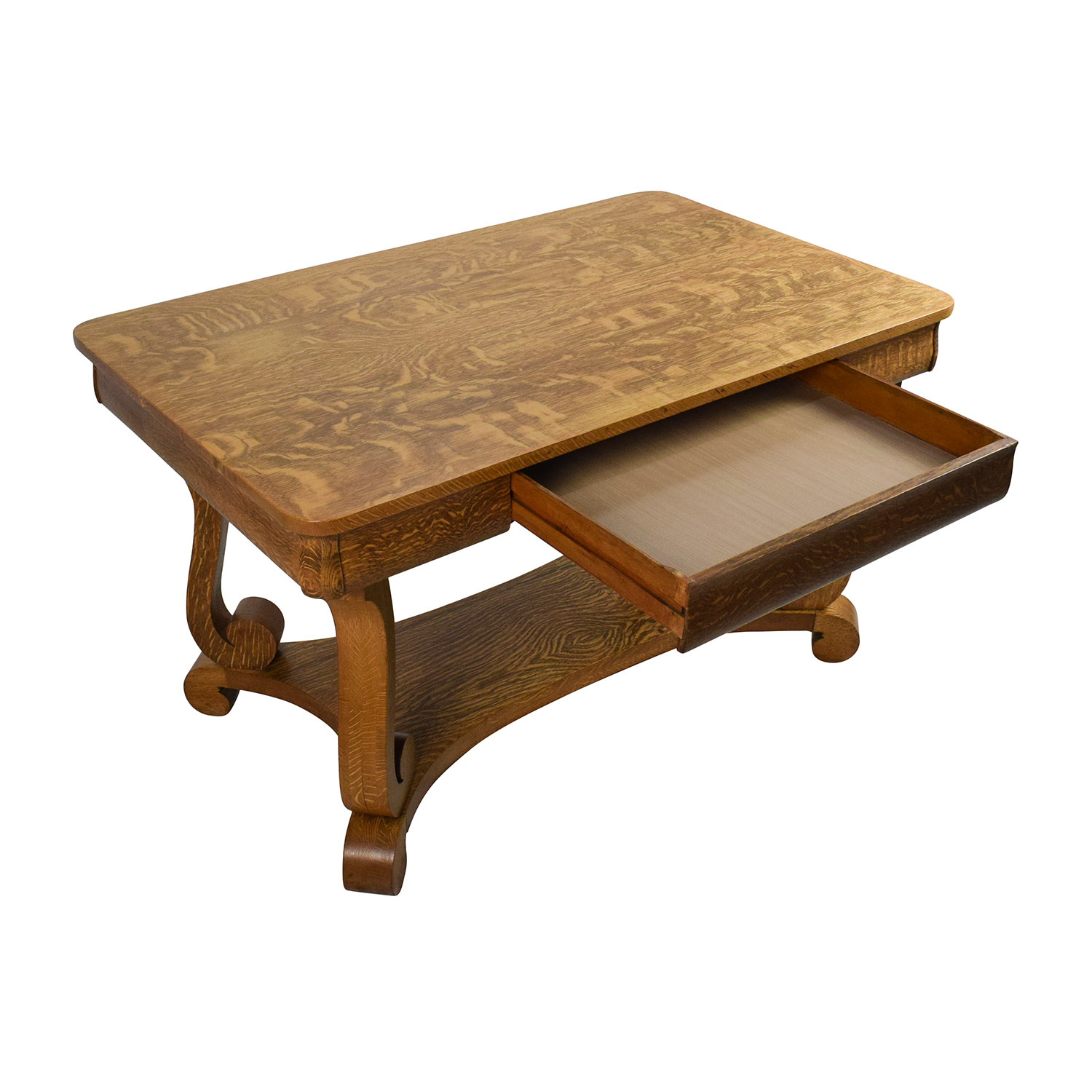60 off antique oak library table tables for Table table table