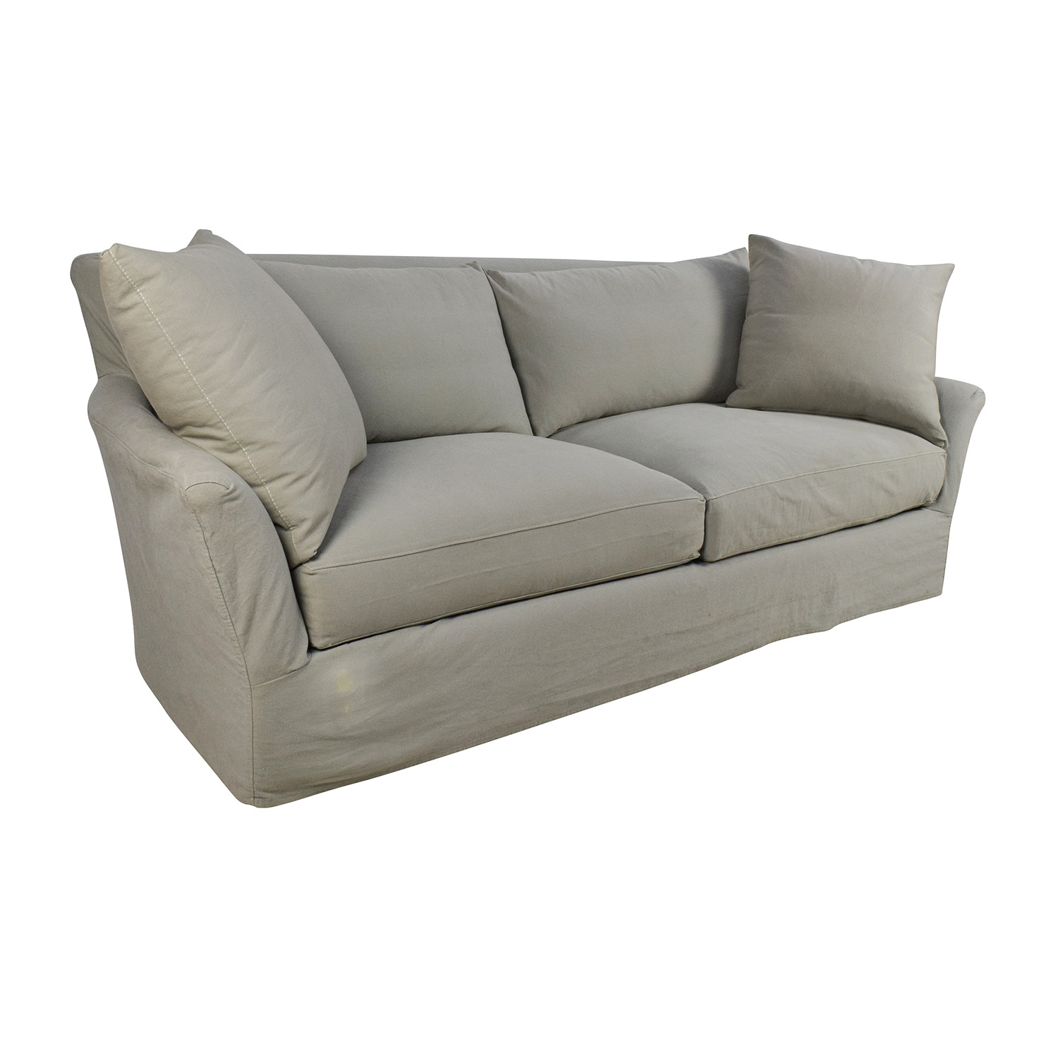 ... Crate And Barrel Crate U0026 Barrel Willow Sage Green Sofa Second ...