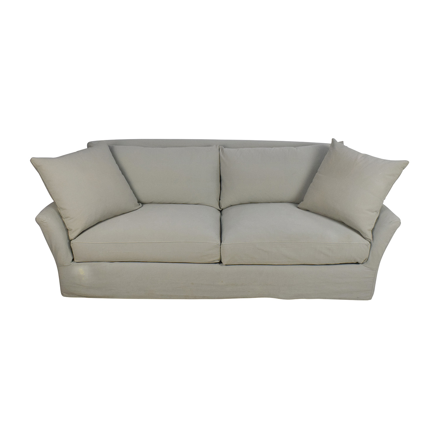 Crate and Barrel Crate & Barrel Willow Sage Green Sofa Sofas