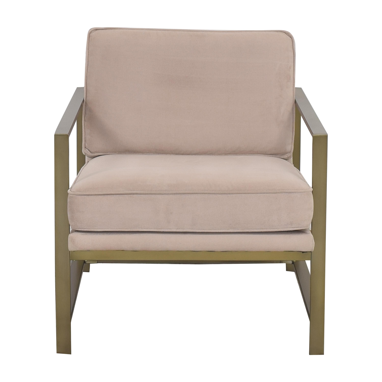 West Elm Metal Frame Upholstered Chair sale
